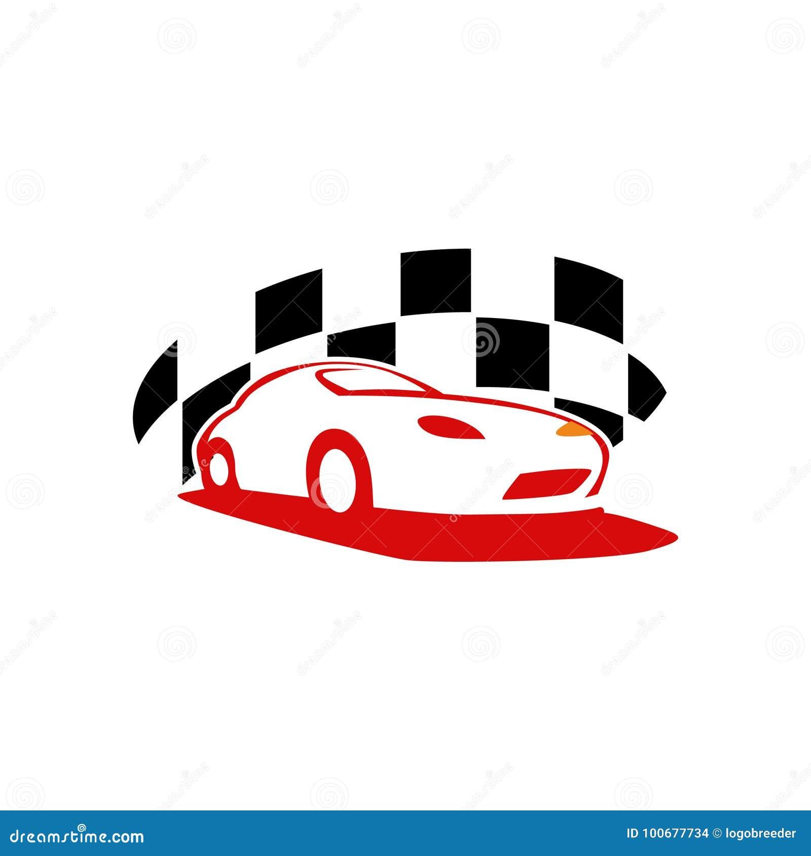 Plantilla Automotriz Del Logotipo Del Coche único Ilustración del ...