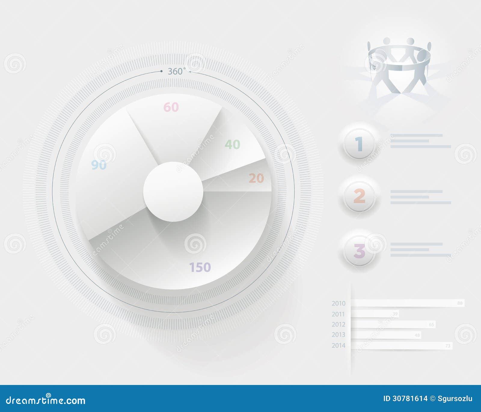 Plantilla blanca de Infographic
