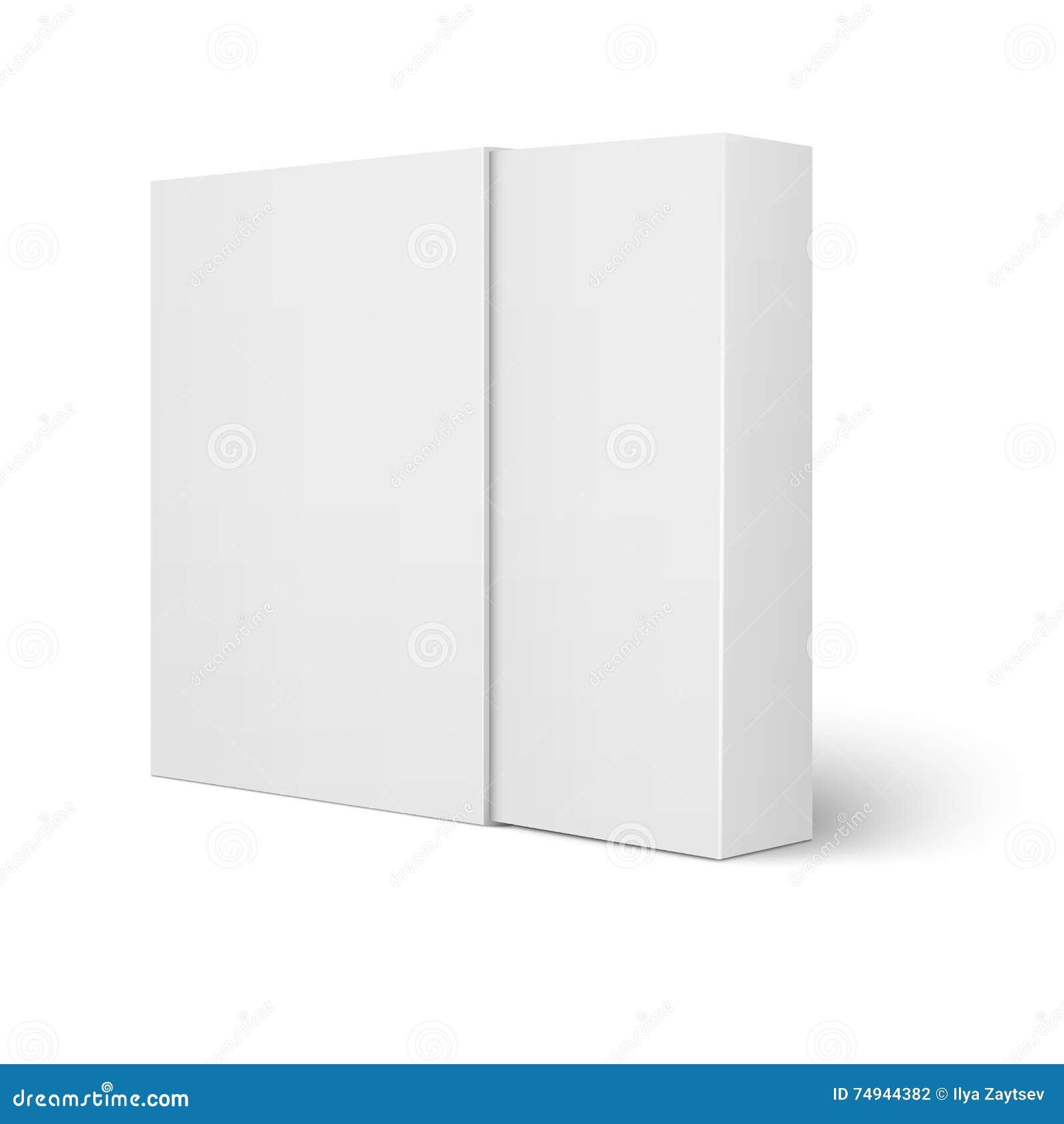 Plantilla Blanca De La Caja De Cartón De La Manga Ilustración del ...