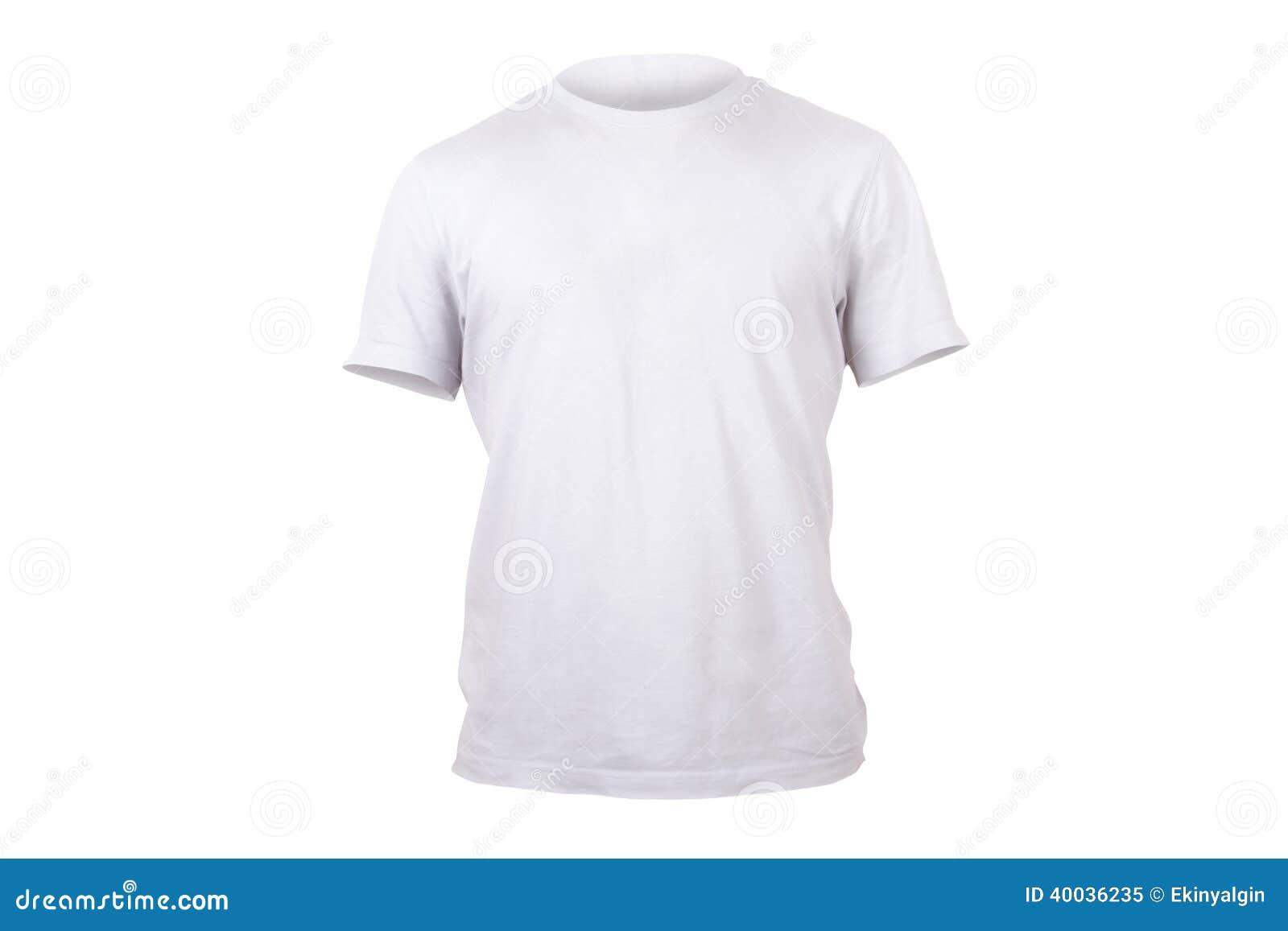 Plantilla Blanca De La Camiseta Imagen de archivo - Imagen de visión ...