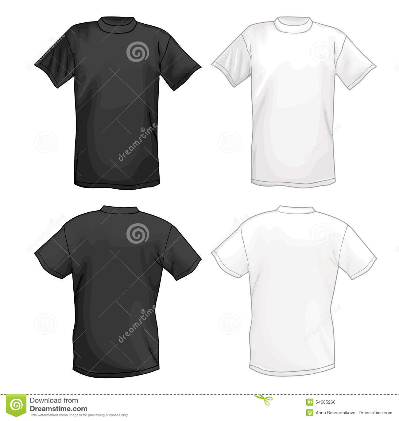 Plantilla Blanca Y Negra Del Diseño De La Camiseta Del Vector ...