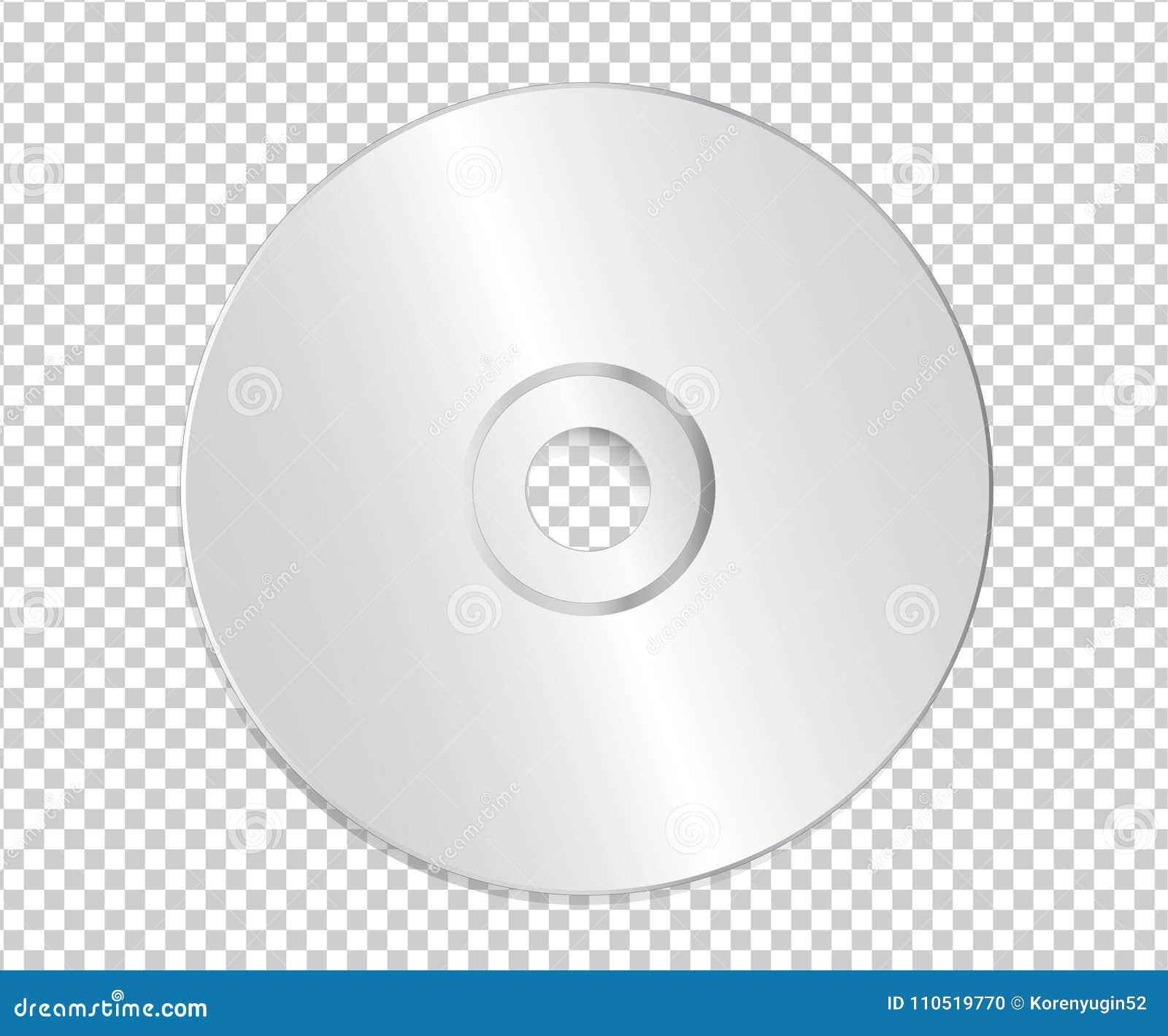 Plantilla CD En Blanco En Fondo Transparente Con La Sombra