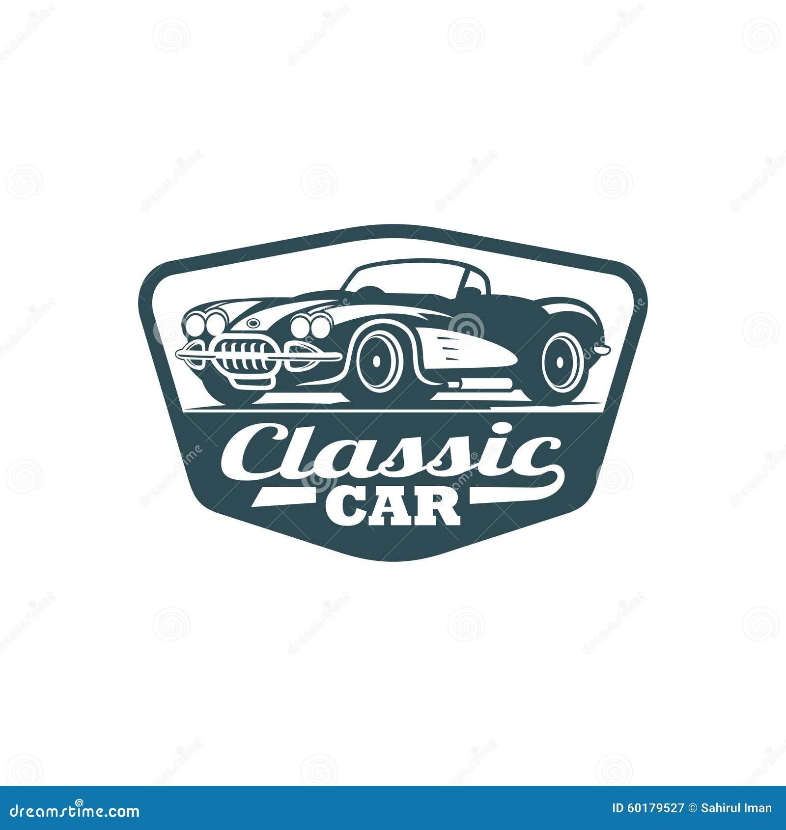 Plantilla clásica del vector del coche