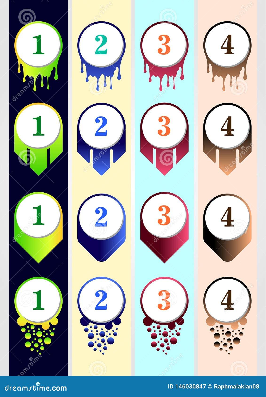 Plantilla colorida de la colección de la bala para el contenido infographic del negocio del contenido