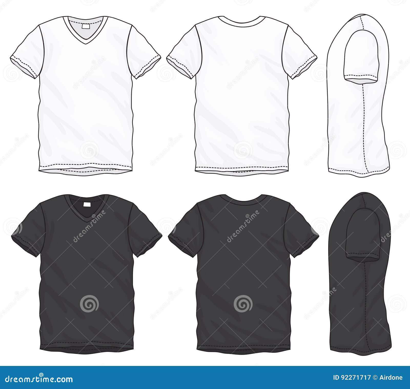 De Diseño Camiseta Pico Negra Blanca Del Plantilla Con Cuello La xBrdshCotQ