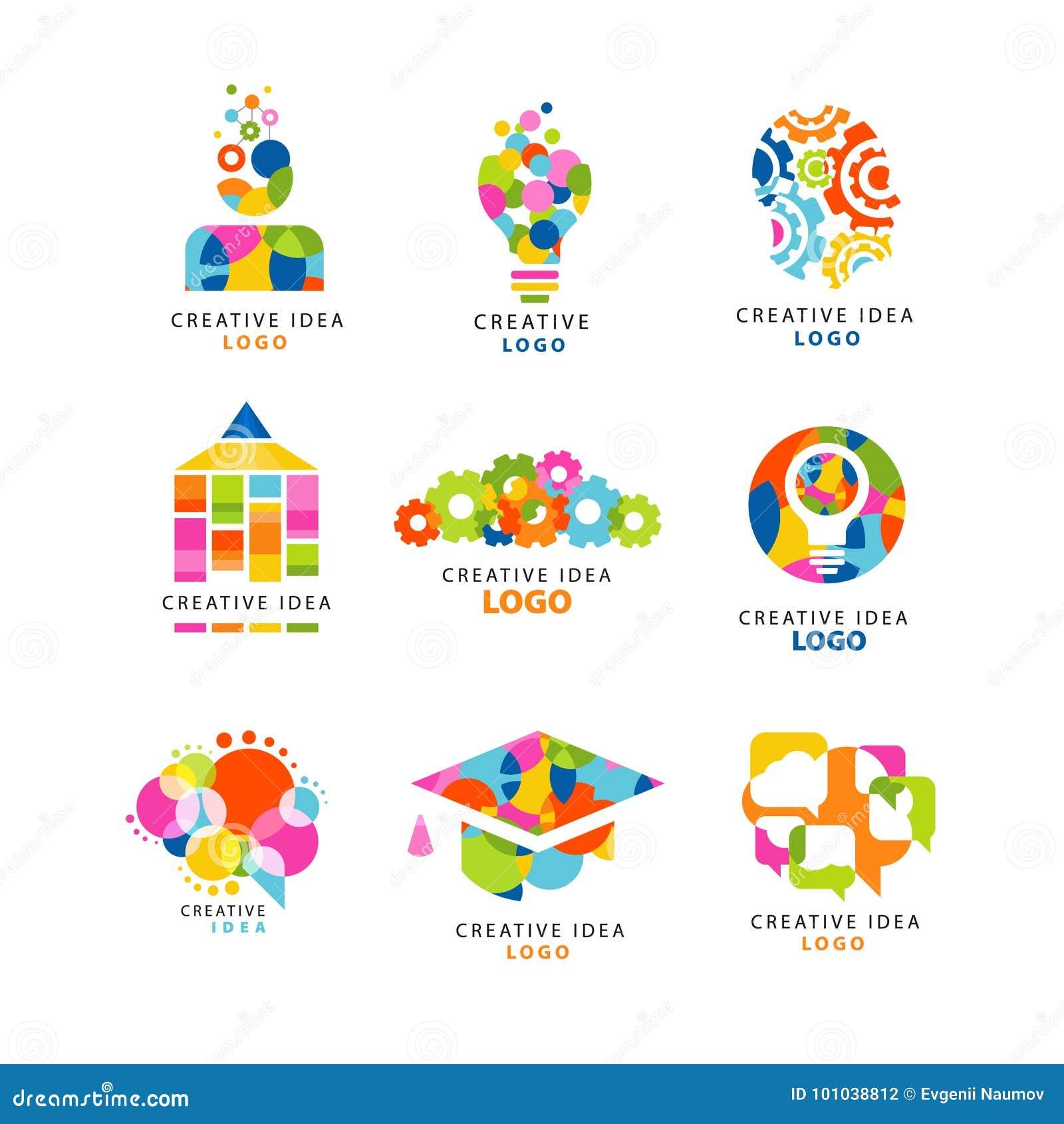 Plantilla Creativa Del Diseño Del Logotipo De La Idea, Elementos ...