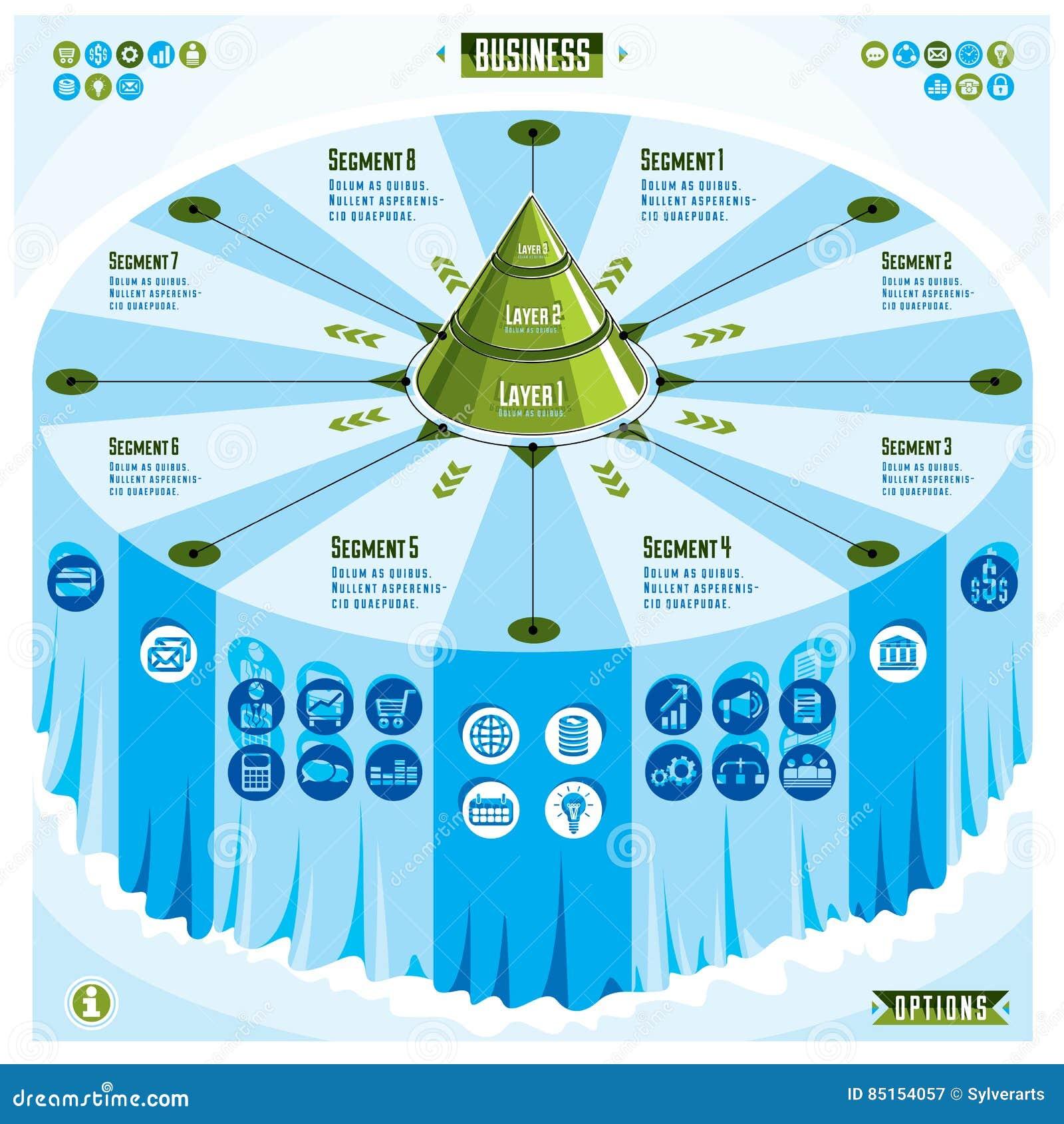 Plantilla Creativa Del Infographics, Tabla 3d Con La Identificación ...