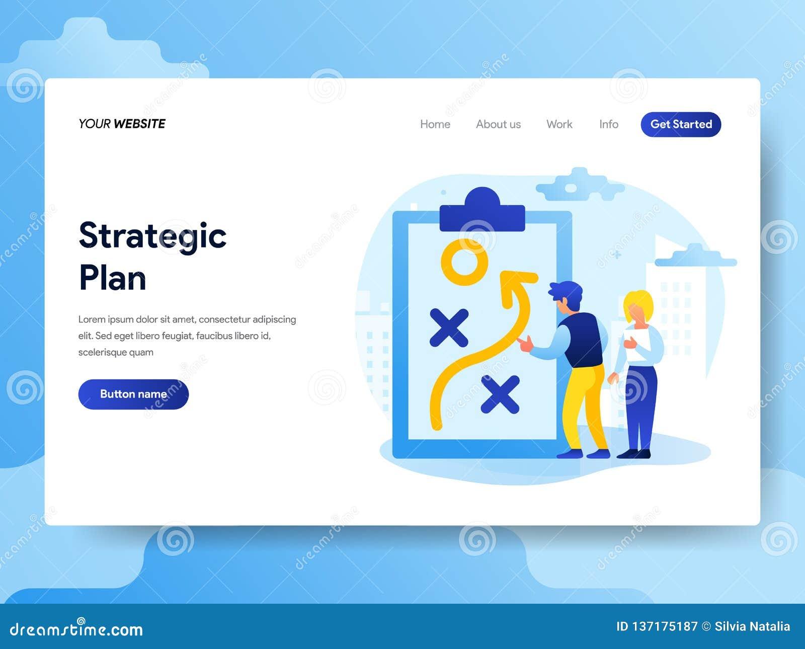 Plantilla de aterrizaje de la página del concepto estratégico del plan r