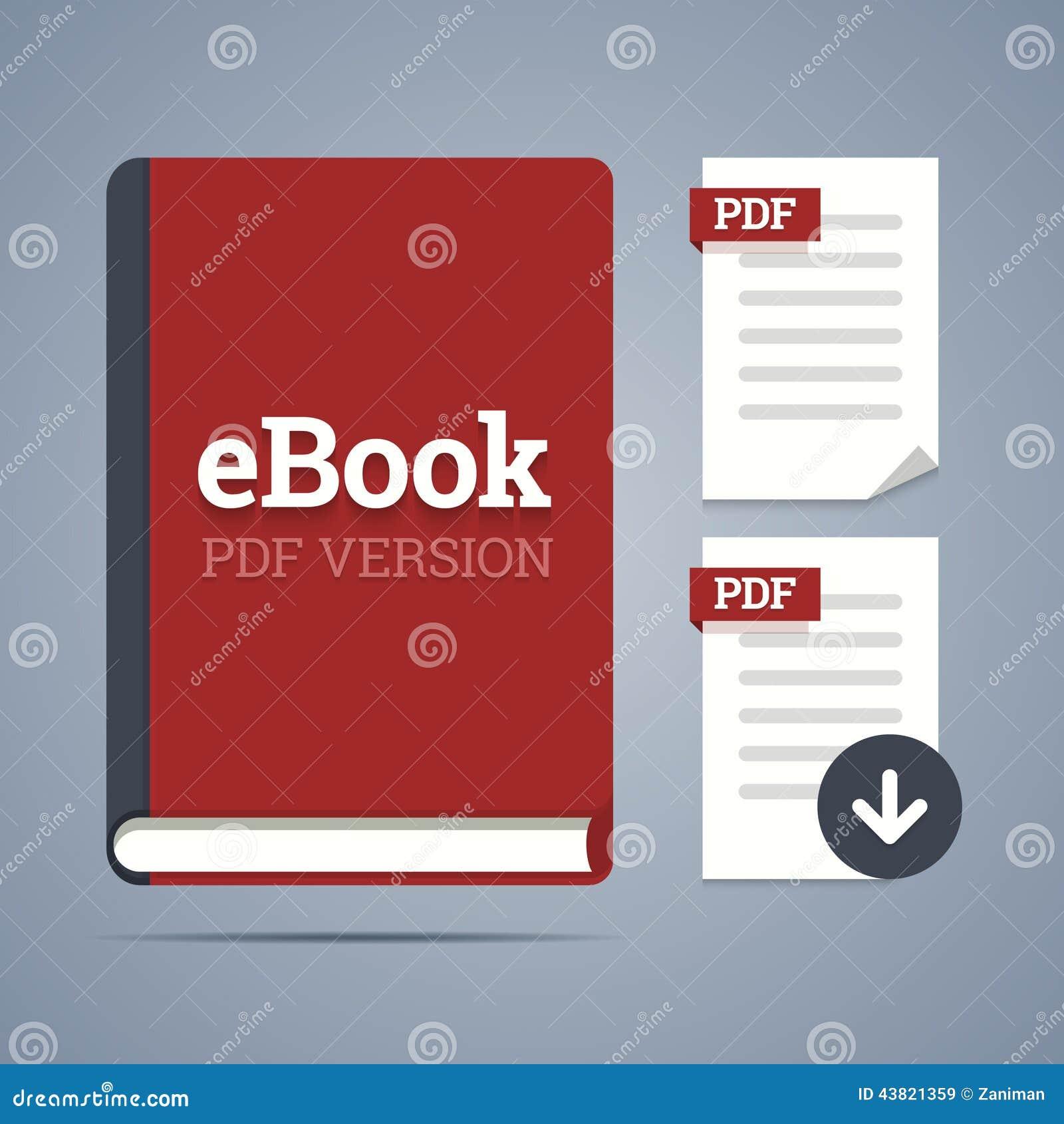 Plantilla De EBook Con La Etiqueta Del Pdf Ilustración del Vector ...