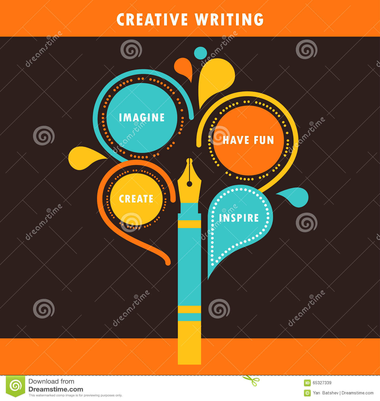Plantilla De Escritura Creativa De Infographics Ilustración del ...
