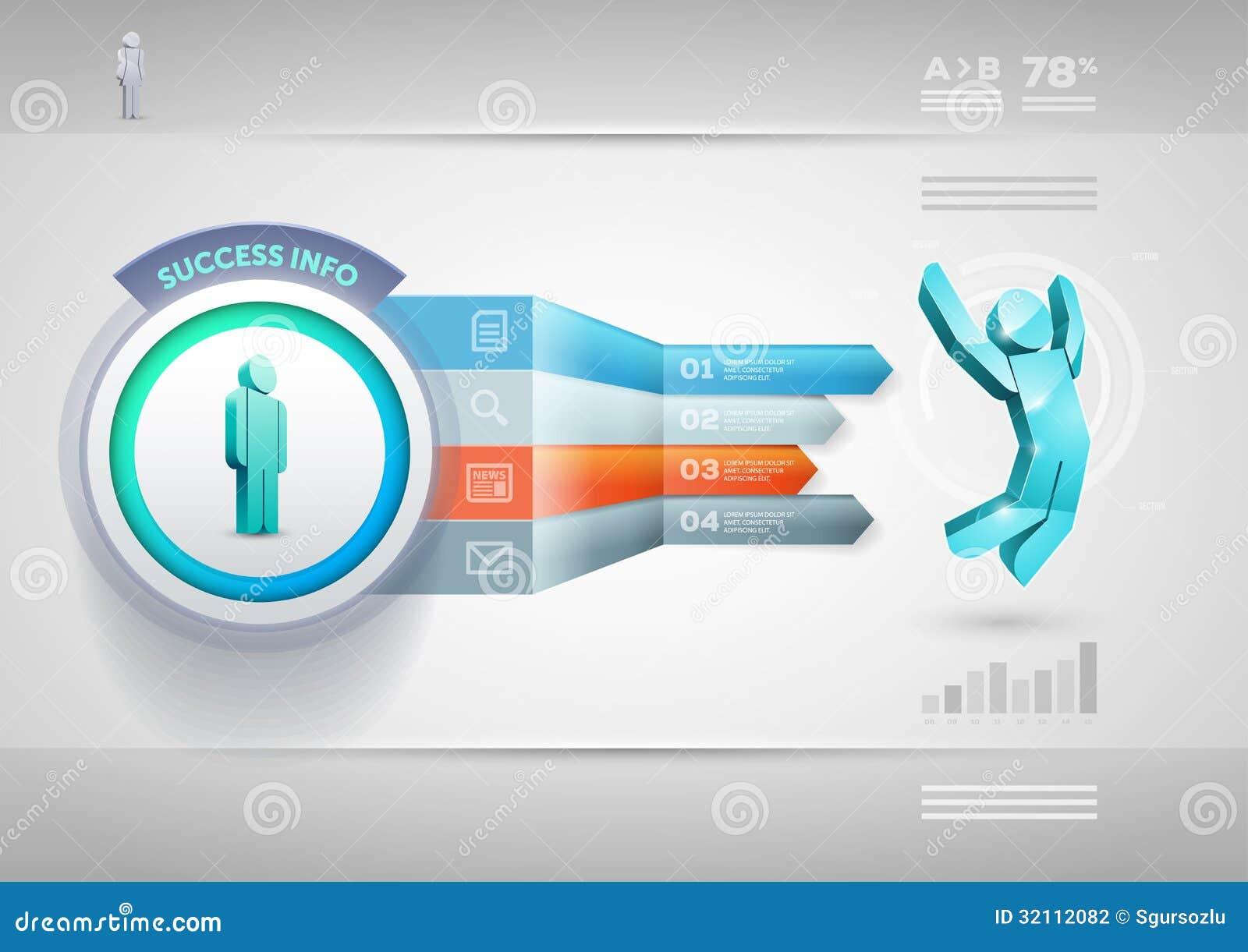 Plantilla de Infographic de la flecha de la perspectiva