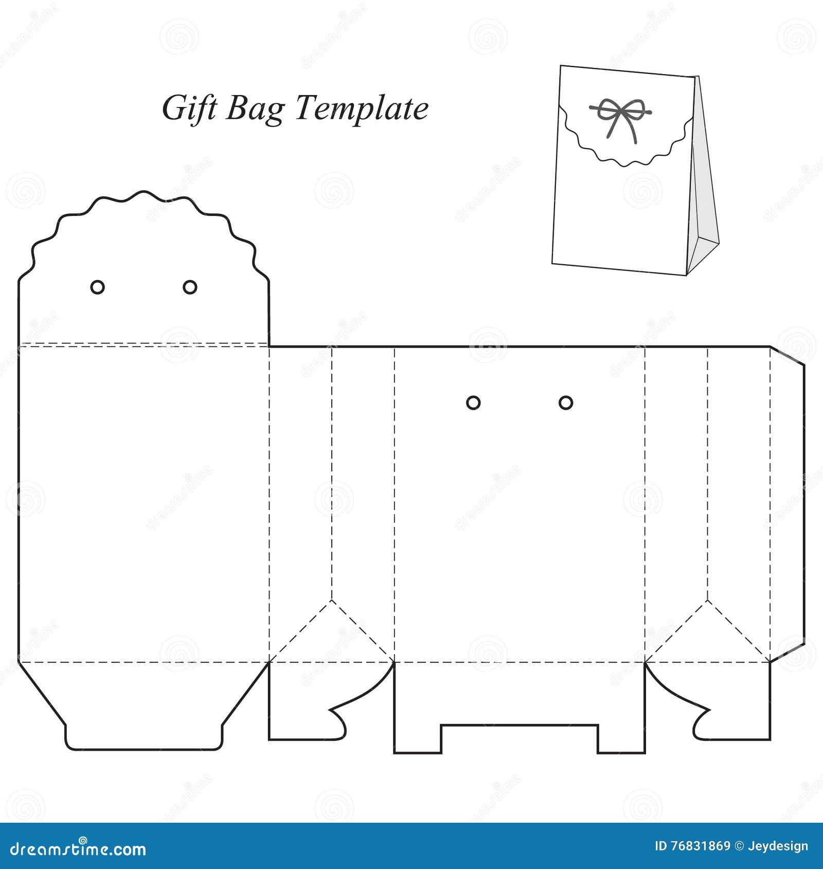 Plantilla De La Caja De Regalo Con La Tapa Ilustración del Vector ...