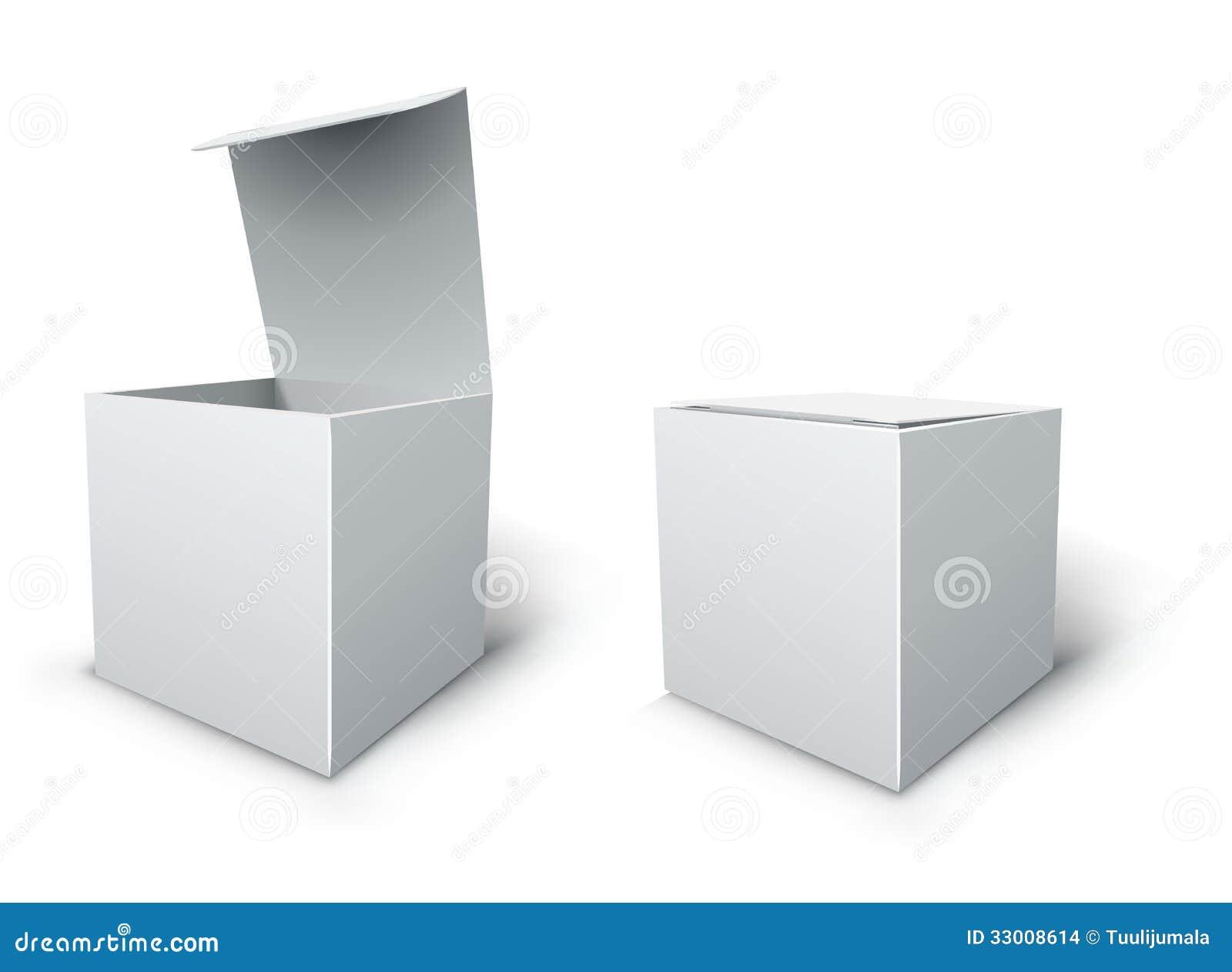Abra La Caja Del Cartón, Ejemplo De Empaquetado De La Plantilla ...