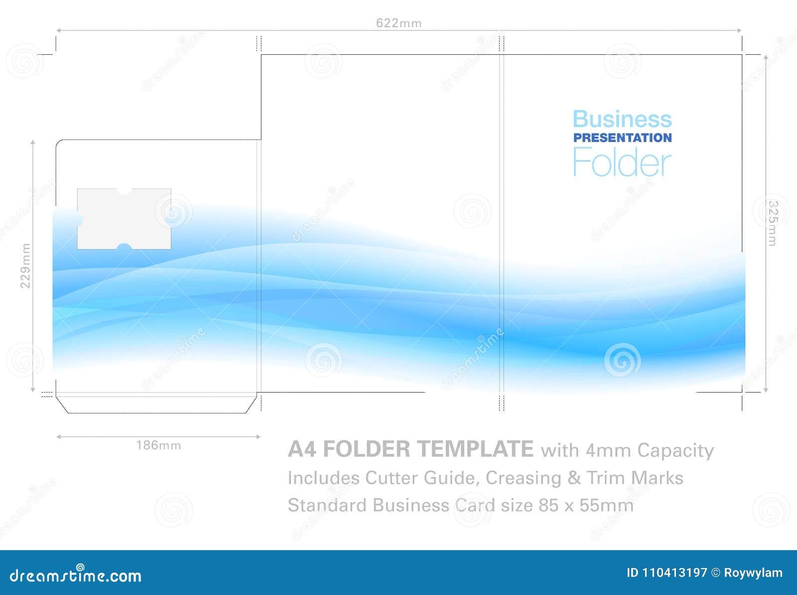 Plantilla De La Carpeta De La Presentación A4 Con El Gráfico Del ...