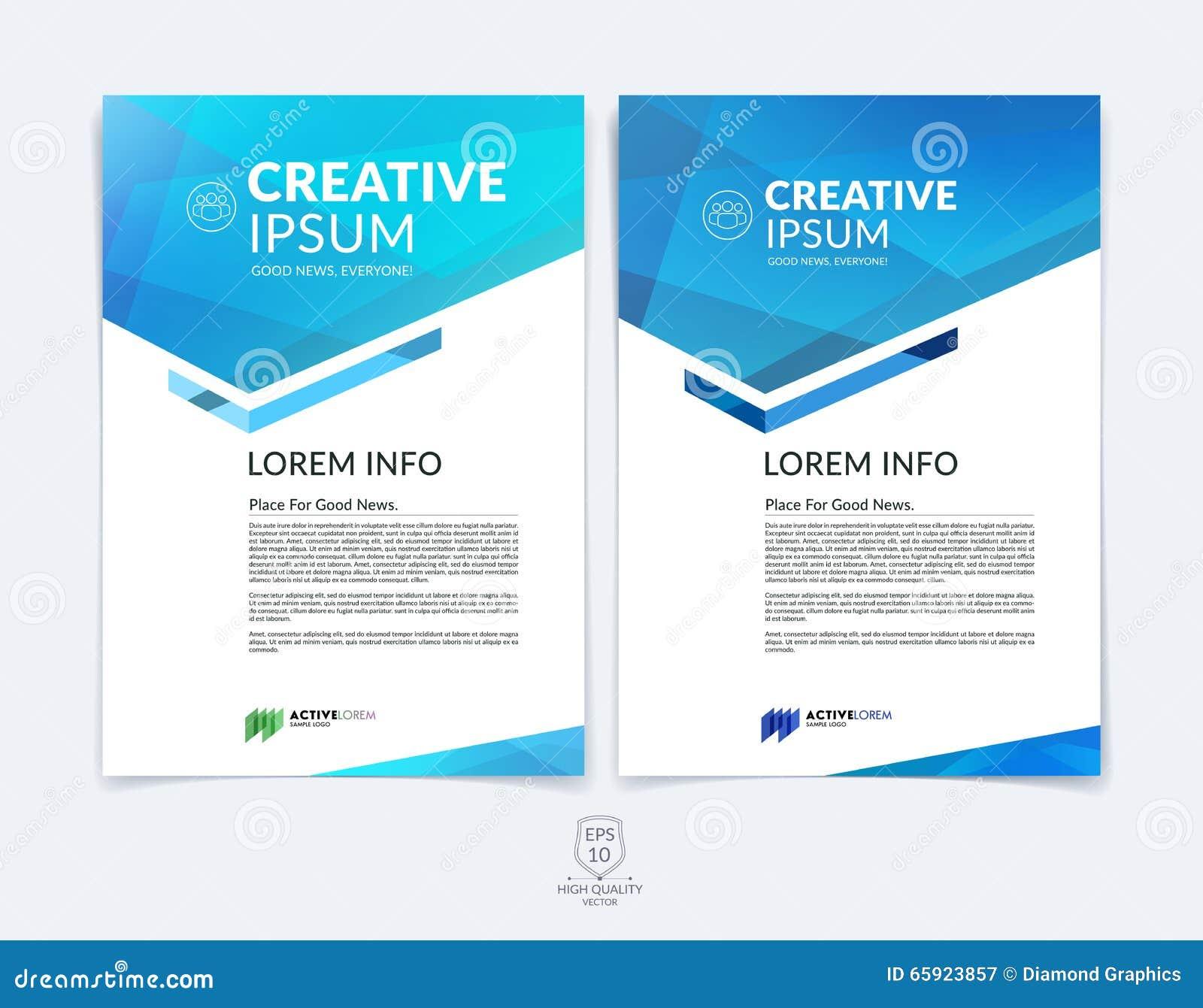 Plantilla de la disposición de diseño del folleto, del aviador y de la cubierta del negocio con b
