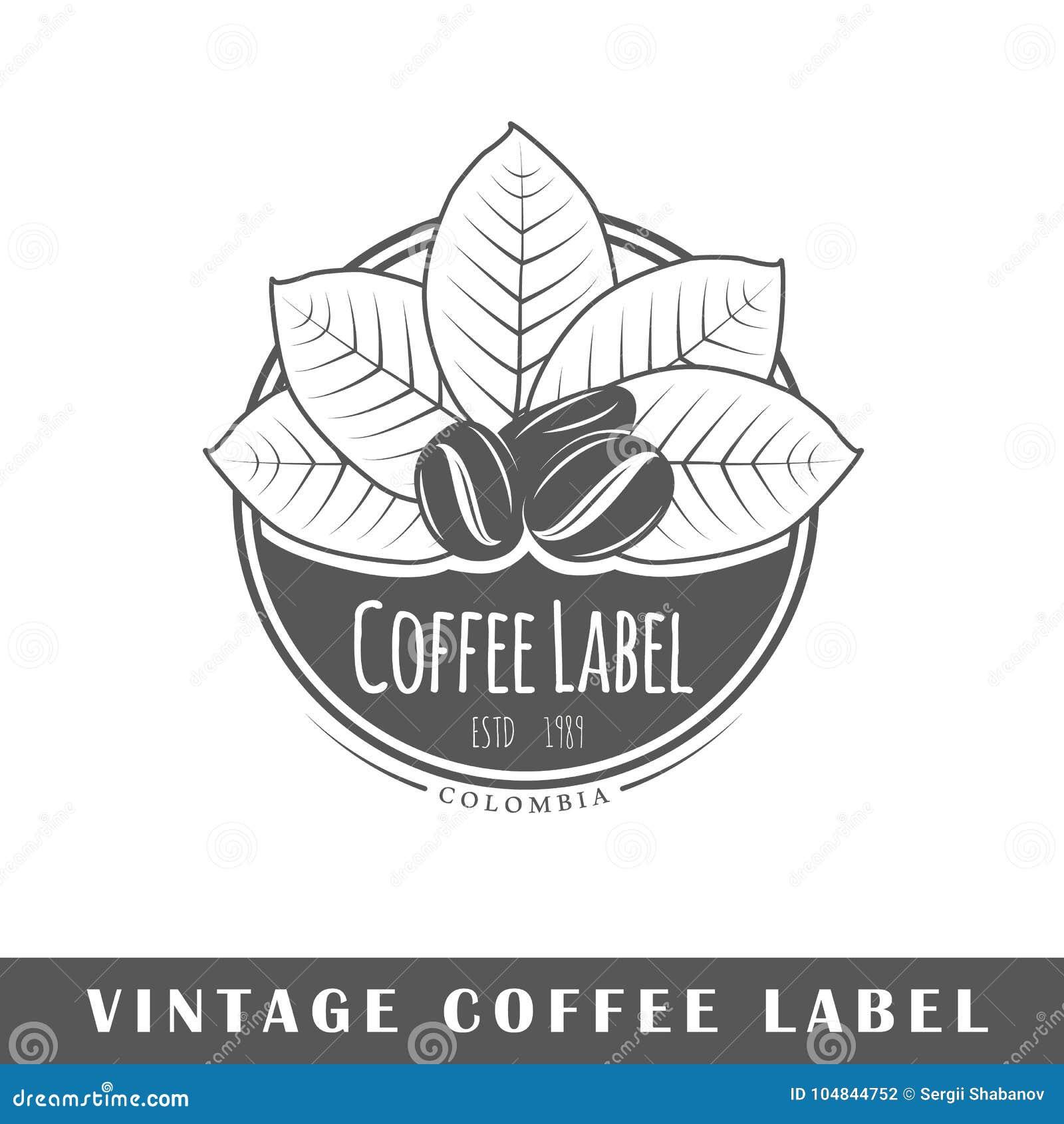 Plantilla De La Etiqueta Del Café Ilustración del Vector ...
