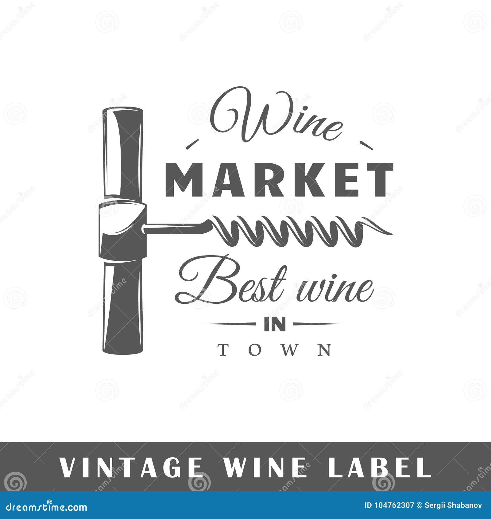 Plantilla De La Etiqueta Del Vino Ilustración del Vector ...