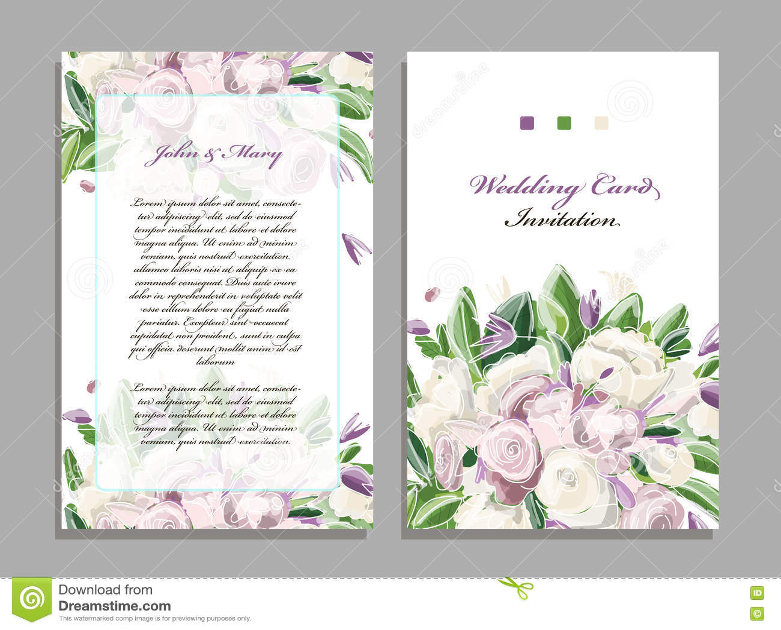 plantilla de la invitacin de boda diseo floral stock de ilustracin