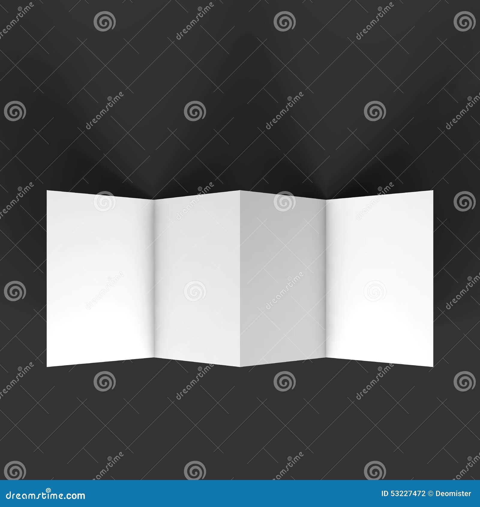 Plantilla de la maqueta del folleto del zigzag cuatro