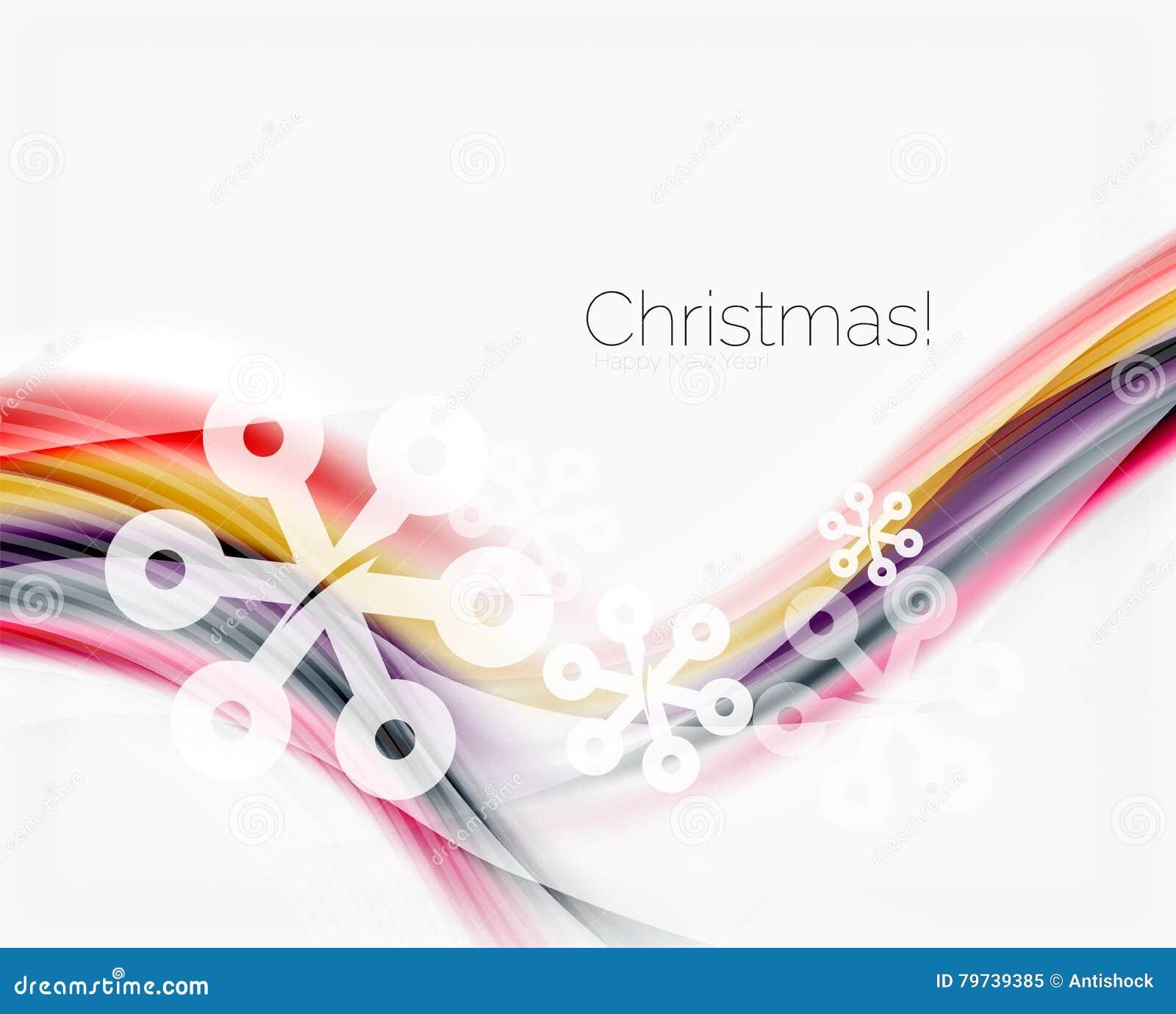 Plantilla de la onda del negocio de la Navidad y del Año Nuevo