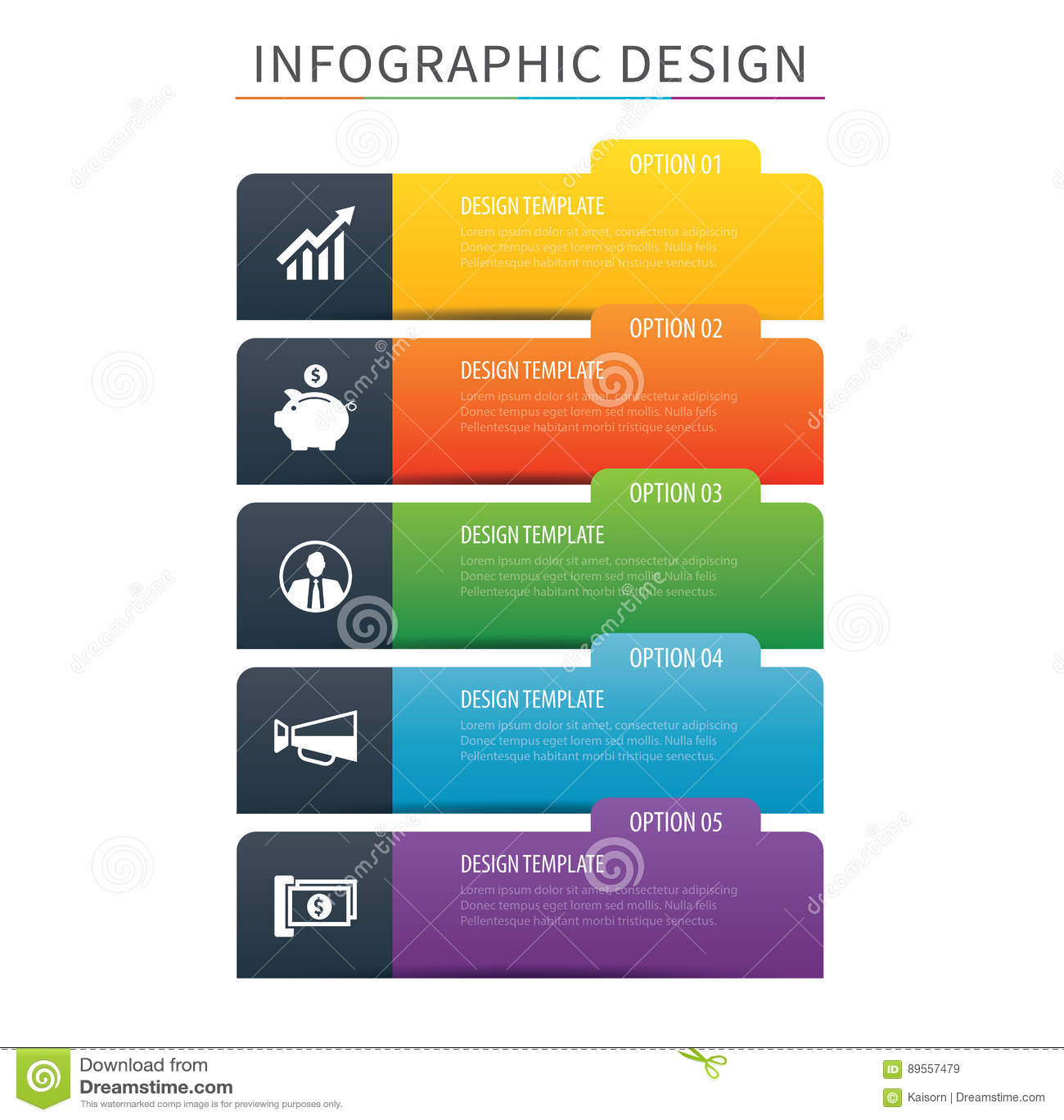 Plantilla De La Opción Del índice 5 De La Etiqueta De Infographics ...
