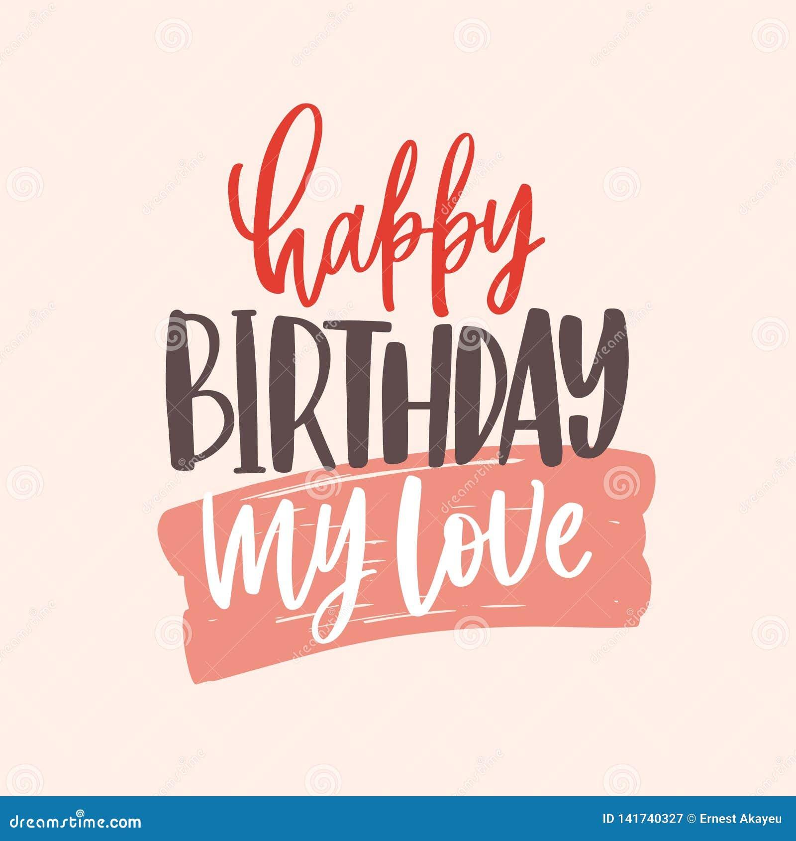 Plantilla De La Tarjeta De Felicitación Con Feliz Cumpleaños Mis
