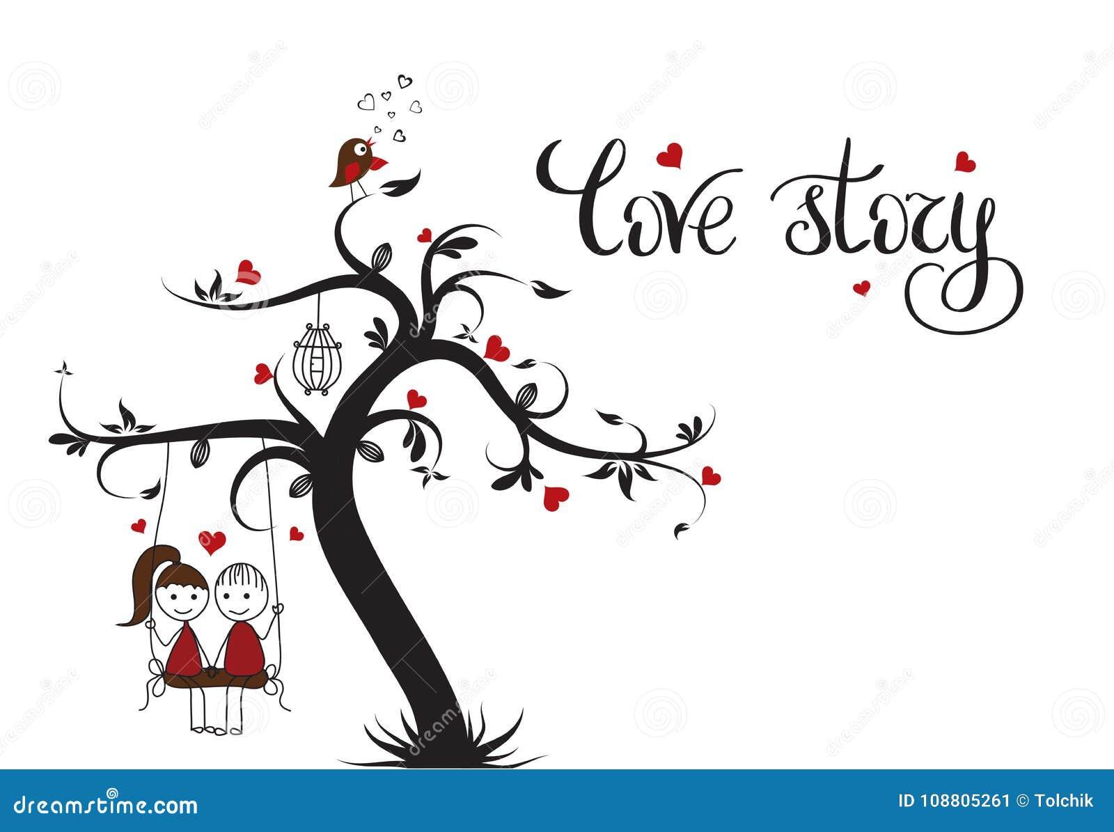 Plantilla de Love Story para la bandera o el cartel Letras del día de fiesta