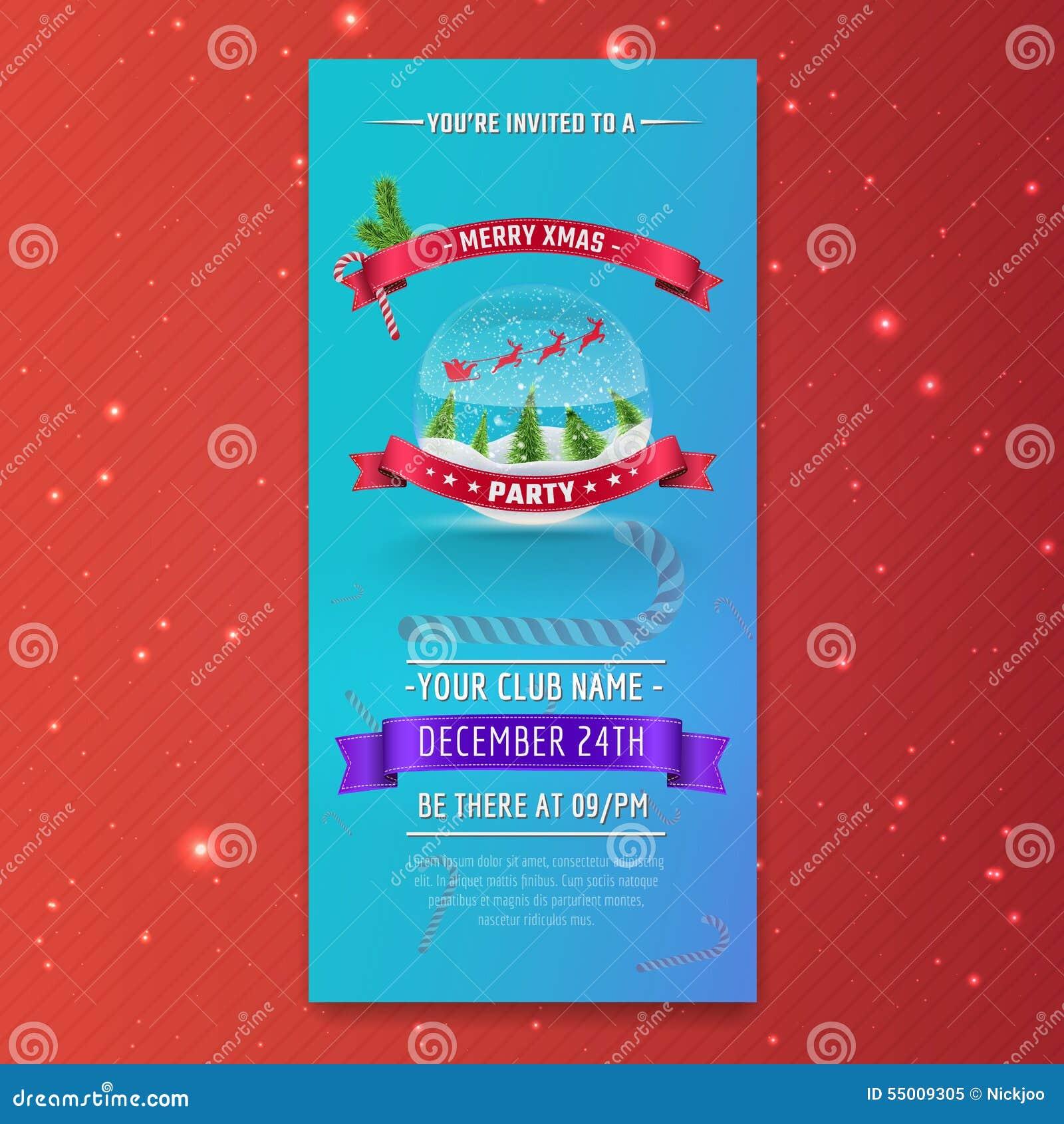 Excelente Plantilla De Invitación De Fiesta De Navidad Festooning ...