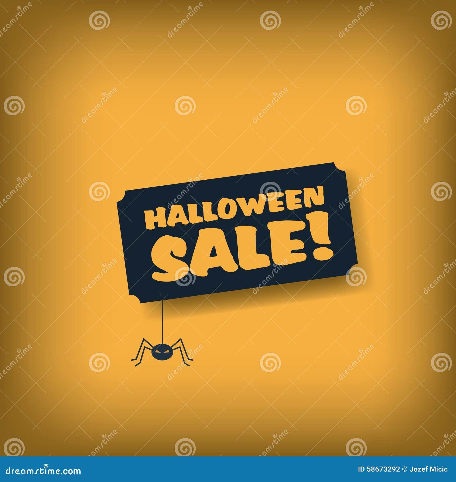 Plantilla Del Cartel De La Venta De Halloween Publicidad De La ...