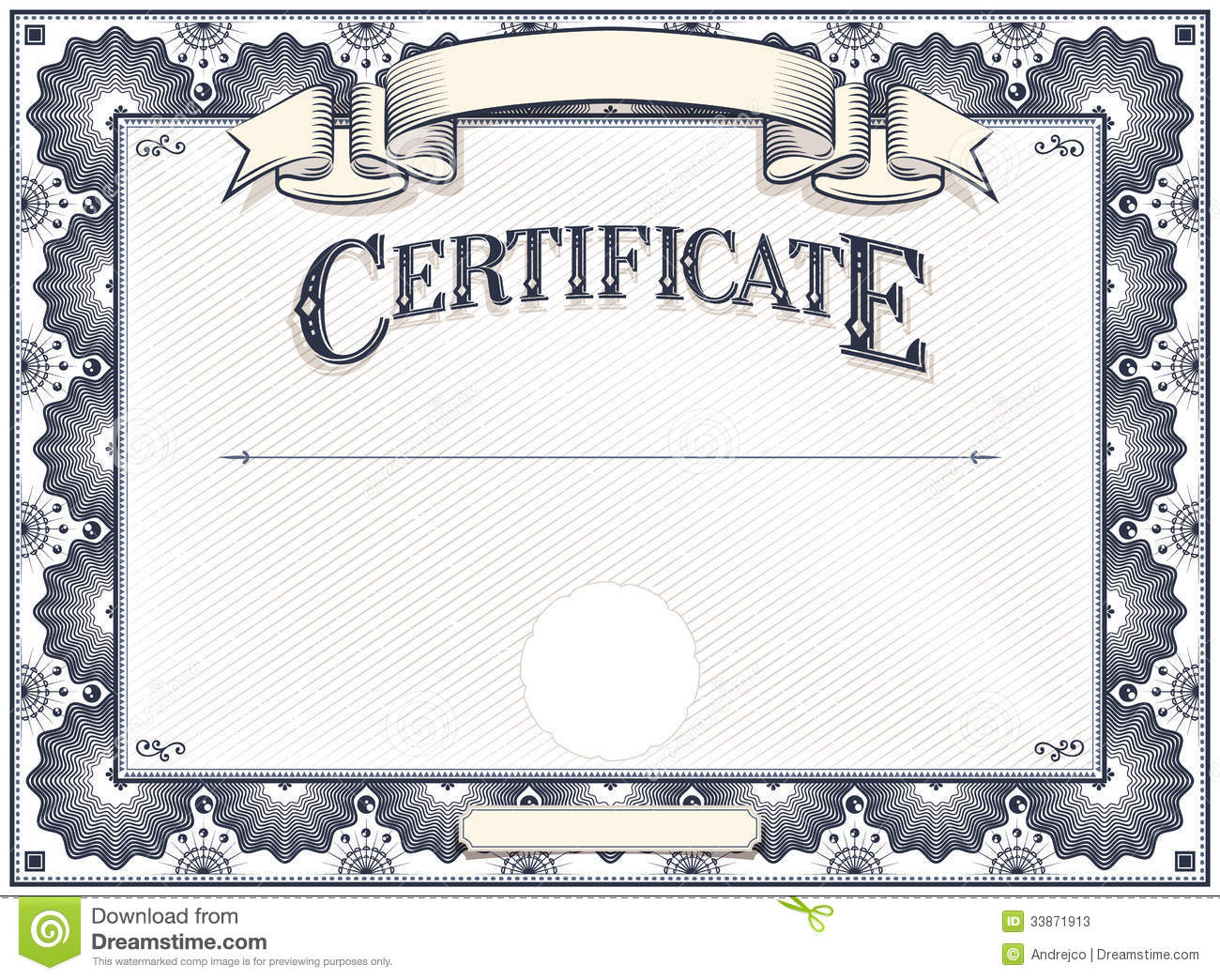 Plantilla del certificado o del diploma fotos de archivo for Cross country certificate templates free