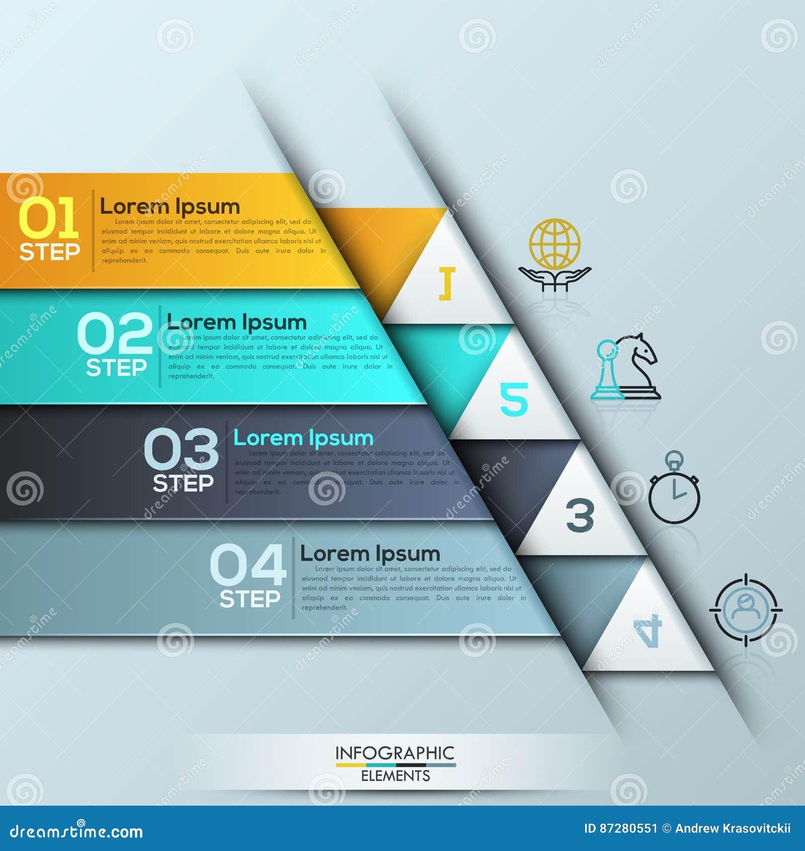 Plantilla Del Diseño De Infographic Con 4 Capas Numeradas ...