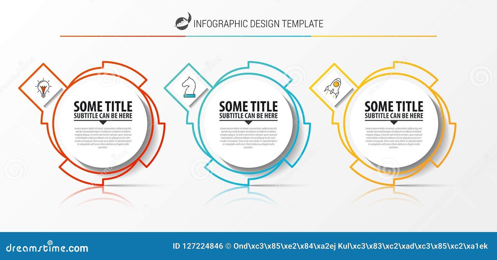 Plantilla del diseño de Infographic Concepto creativo con 3 pasos