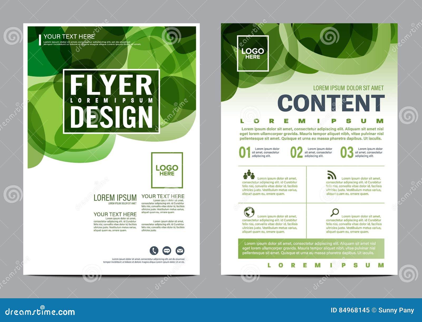 Plantilla del diseño de la disposición del folleto del verdor Fondo moderno de la presentación de la cubierta del prospecto del a