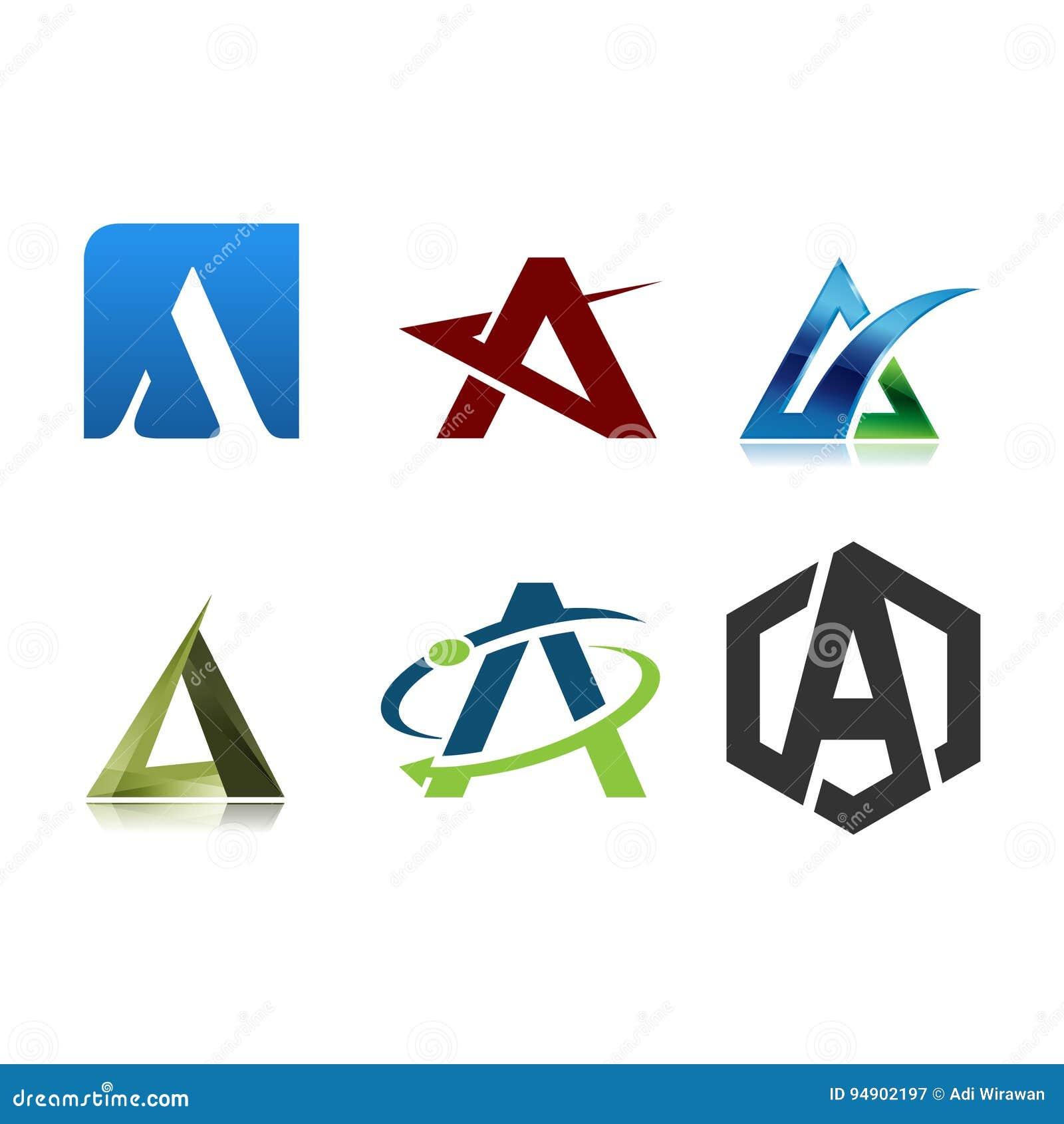 Plantilla Del Diseño De La Letra A Del Logotipo Ilustración del ... 585437cb96d17