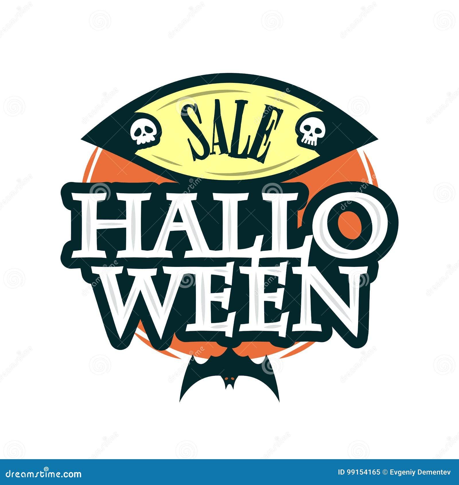 Plantilla Del Diseño De La Oferta De La Venta Del Feliz Halloween ...