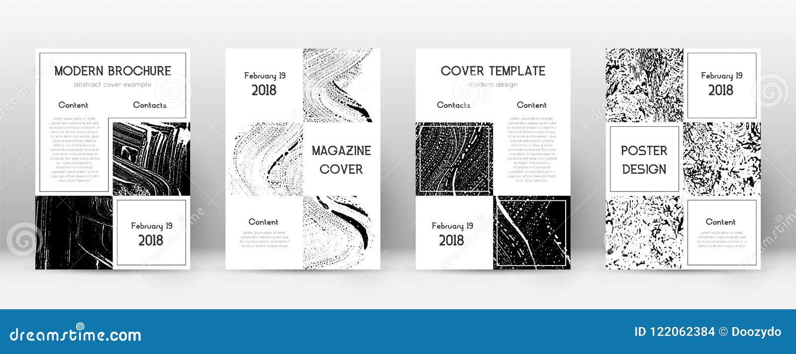 Plantilla del diseño de la página de cubierta Disposición del folleto del negocio Página de cubierta abstracta de moda hermosa En