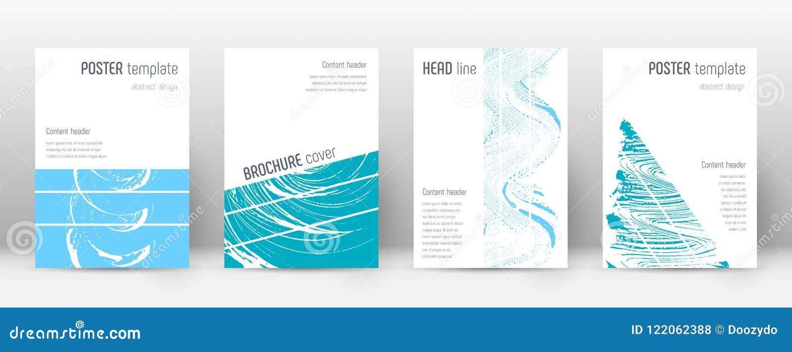 Plantilla del diseño de la página de cubierta Disposición geométrica del folleto Página de cubierta abstracta de moda intrépida R