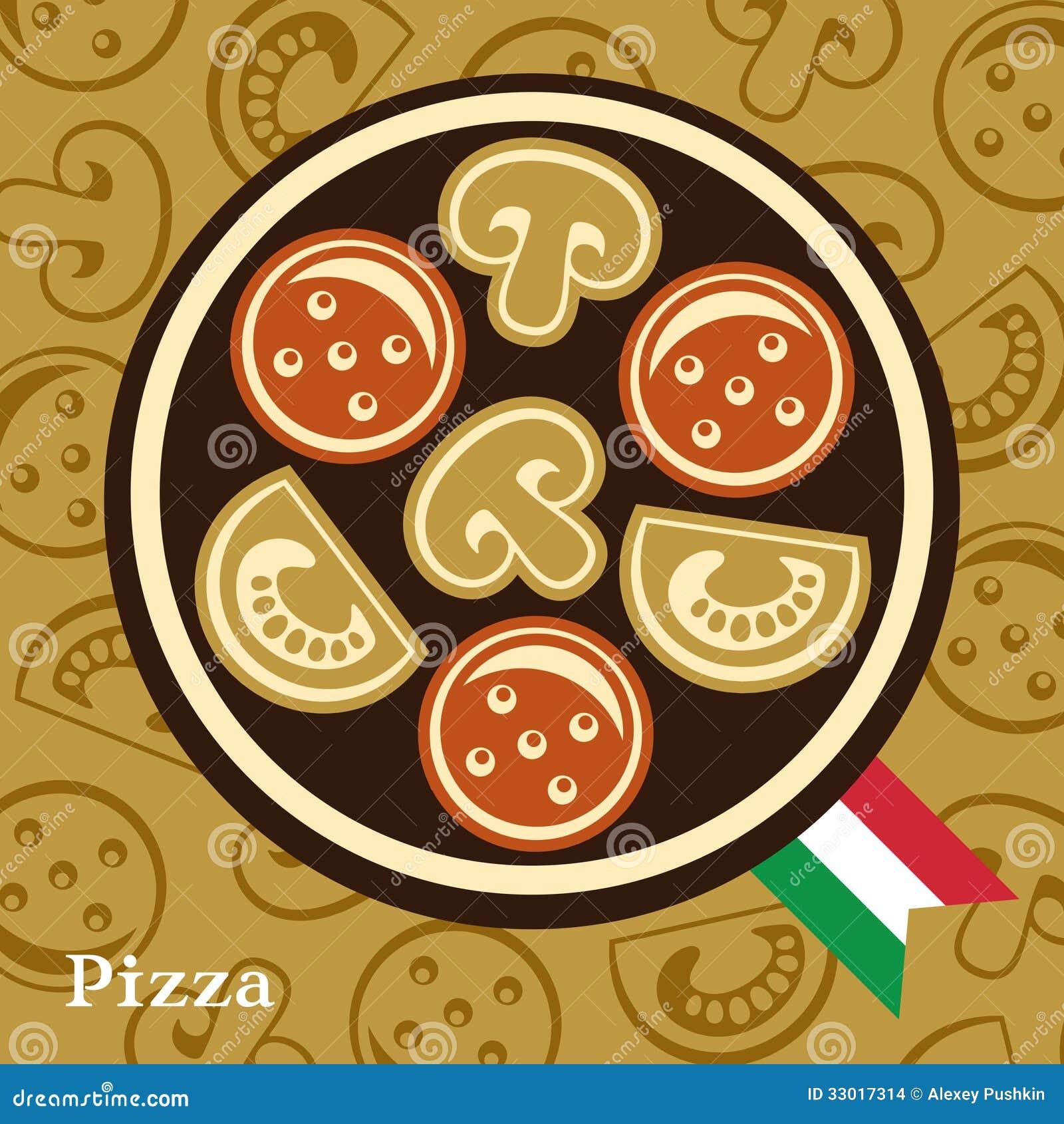 Plantilla Del Diseño De La Pizza Ilustración del Vector ...