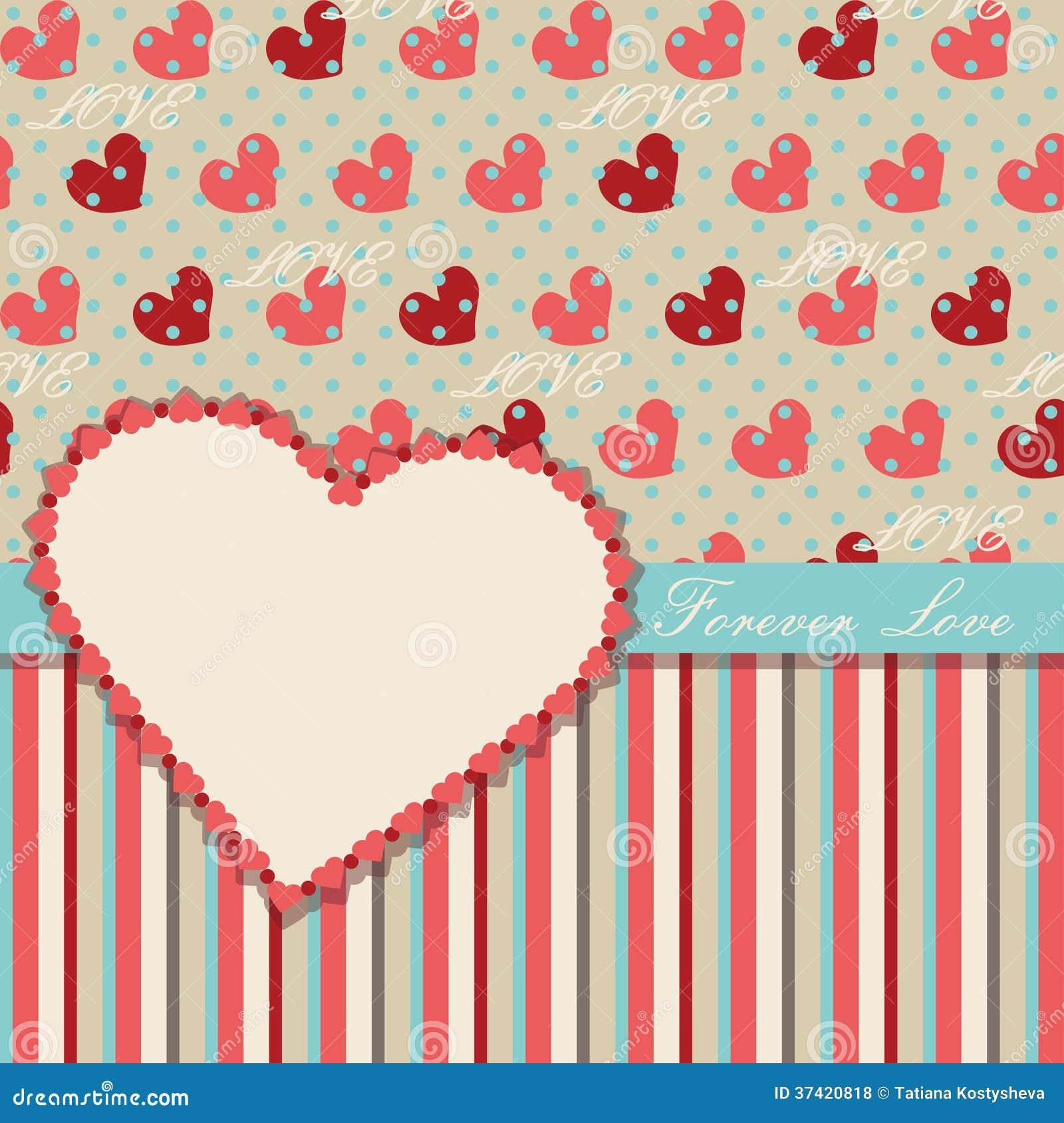 Plantilla Del Diseño De Las Tarjetas Del Día De San Valentín Del ...