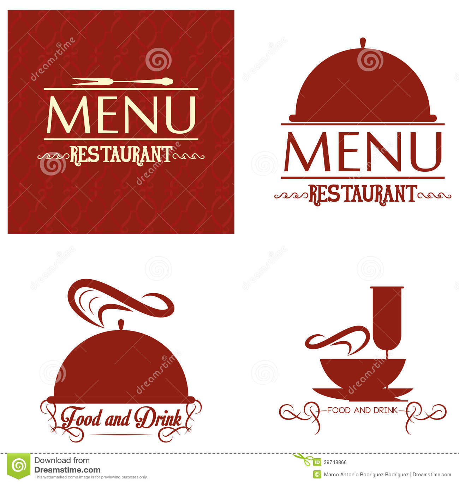 Plantilla Del Diseño De Tarjeta Del Menú Del Restaurante Editable ...