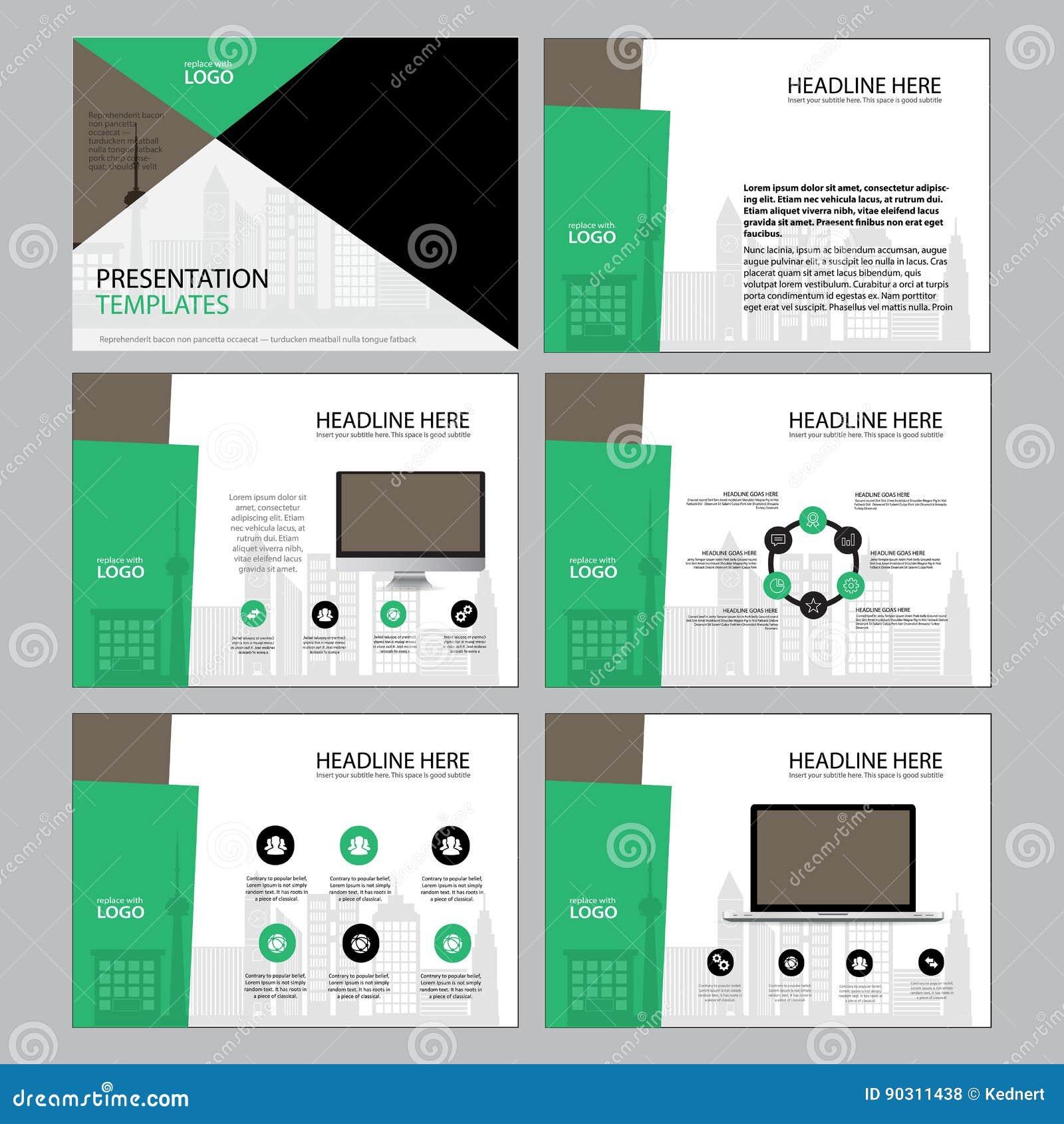 Plantilla Del Diseño Del Diseño De Página Para La Presentación Y ...