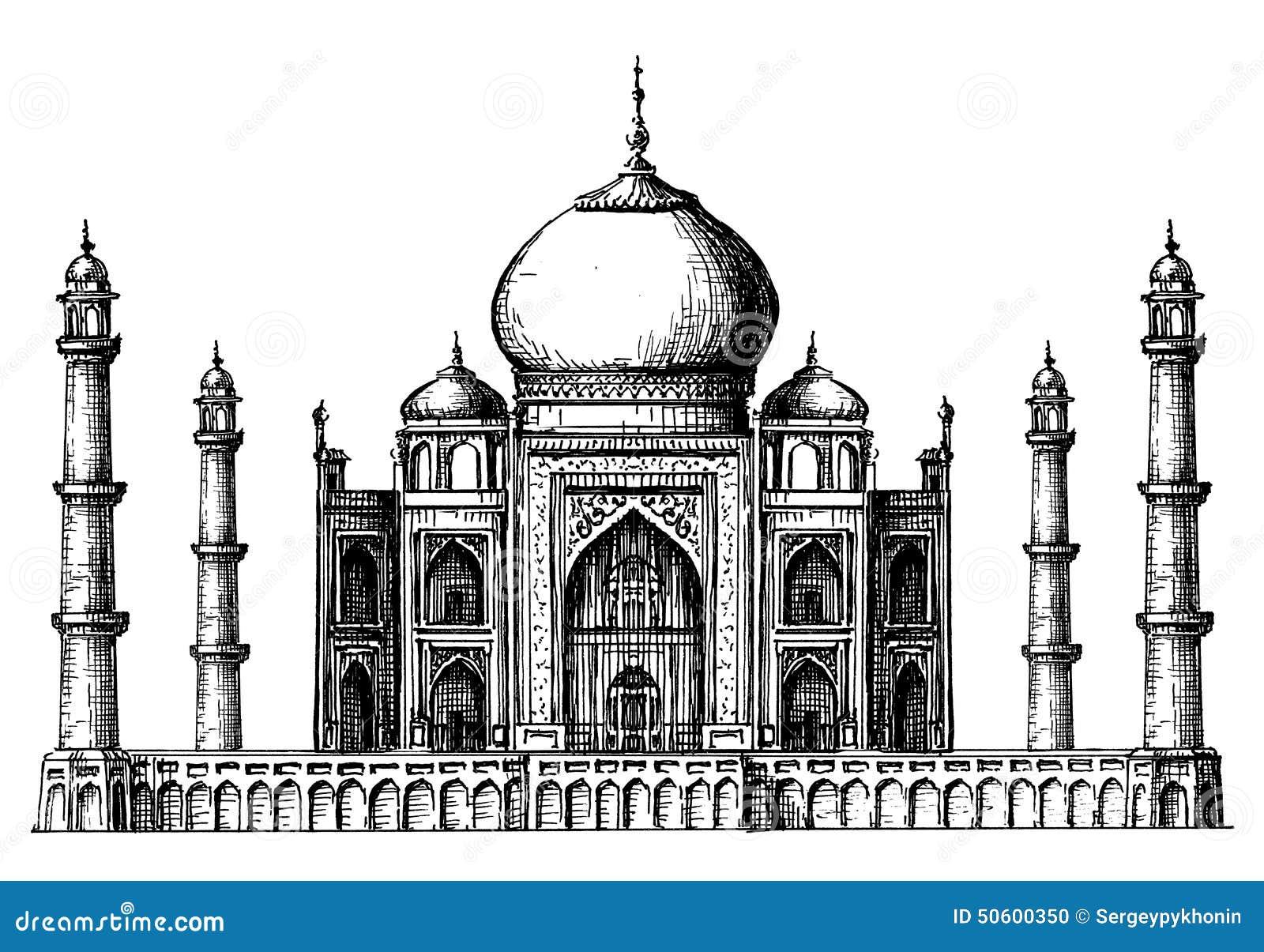 Plantilla Del Diseño Del Logotipo Del Vector De Taj Mahal La India O ...