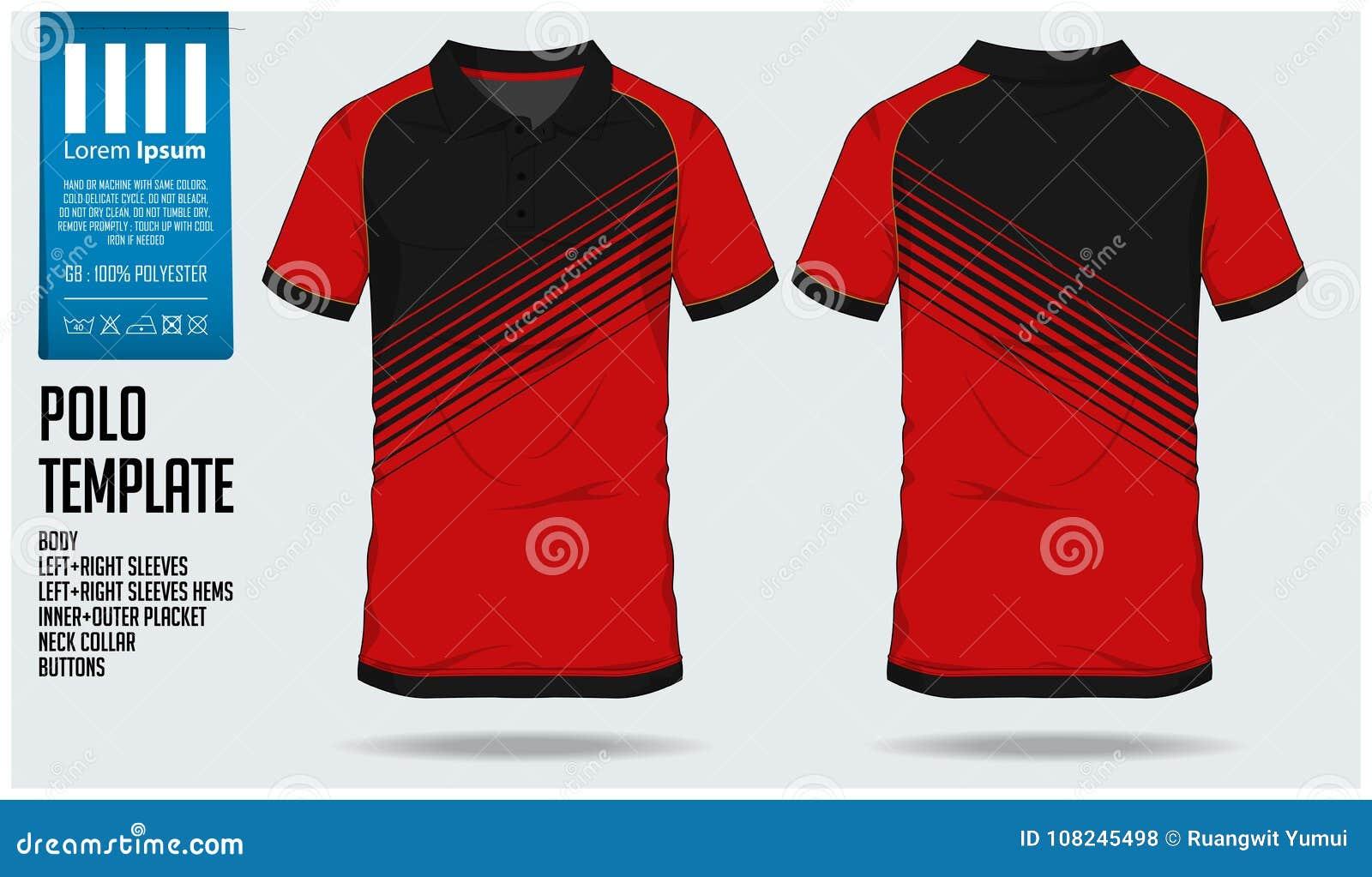 Plantilla del diseño del deporte de la camiseta del polo para el jersey de  fútbol ee8eb9302a828