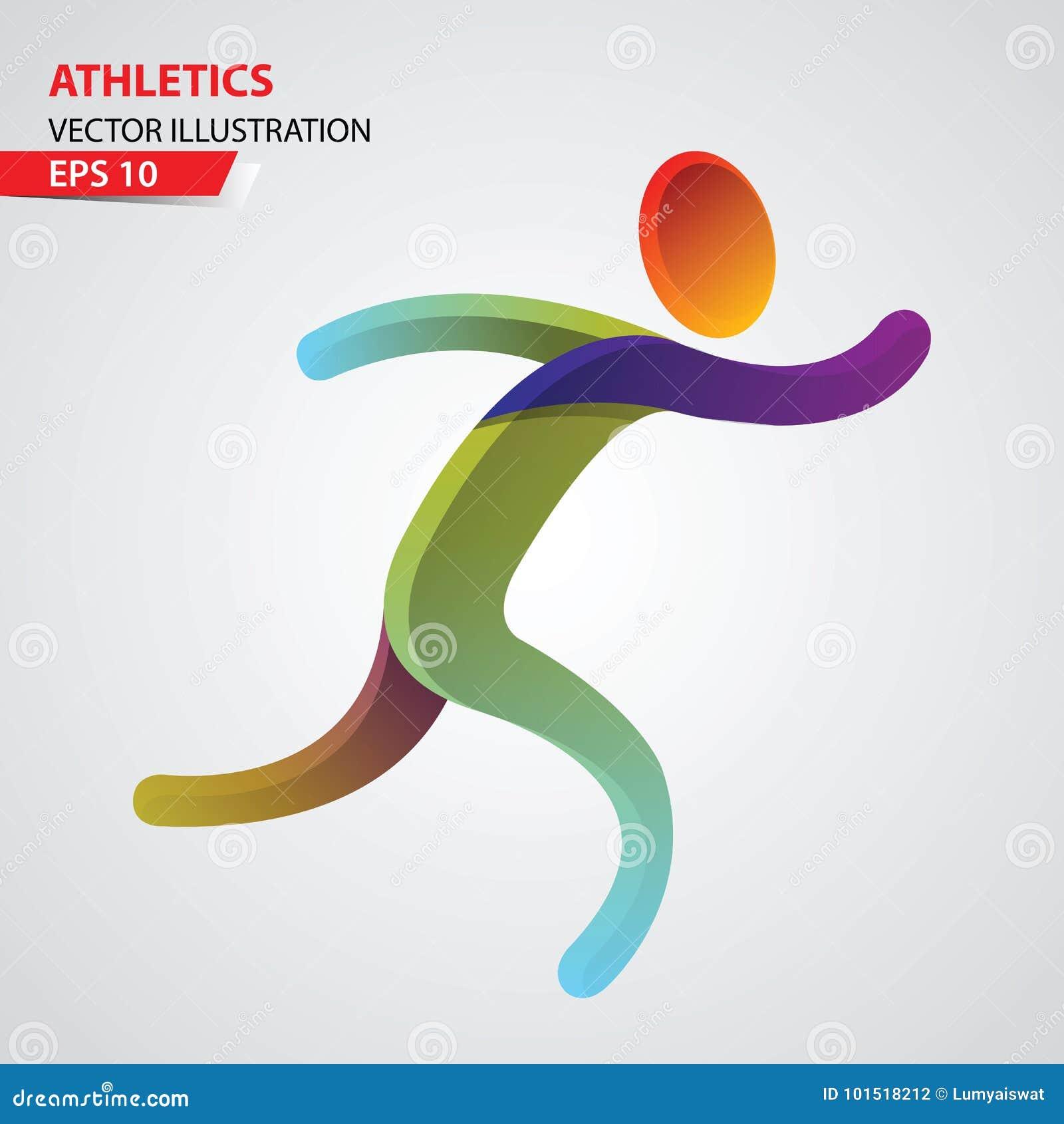 Plantilla Del Diseño Del Icono Del Deporte Del Color Del Atletismo ...