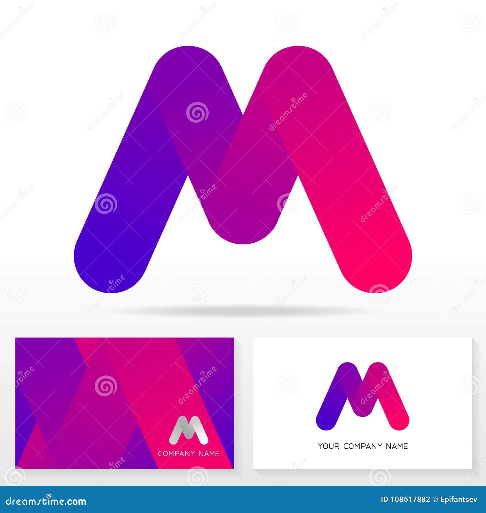 Plantilla Del Diseño Del Icono Del Logotipo De La Letra M Modelos De ...