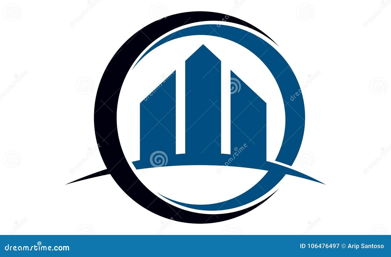 Plantilla del diseño del logotipo de las propiedades inmobiliarias