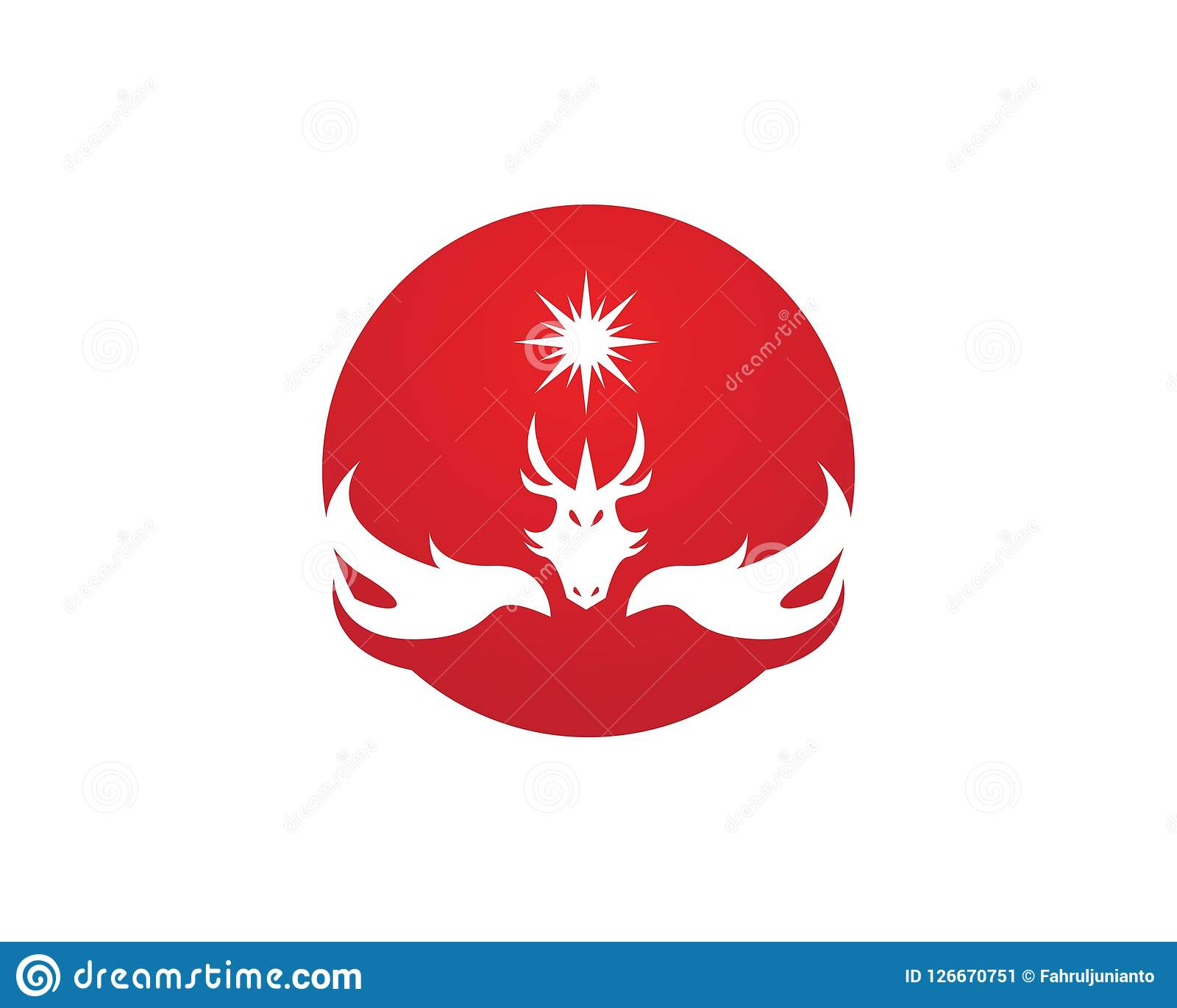 Plantilla del diseño del logotipo del dragón Ilustración del Vector