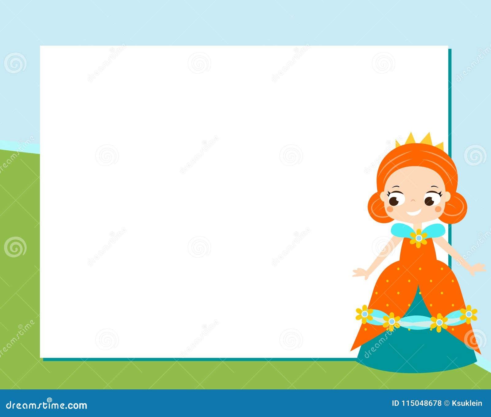 Plantilla Del Diseño Del Marco De La Princesa Para Las Fotos, Los ...