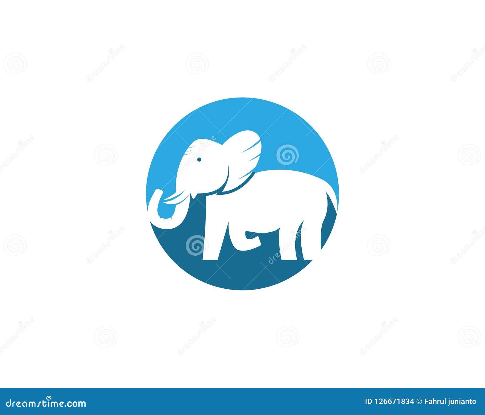 Plantilla del diseño del vector del logotipo del elefante Ilustración del Vector