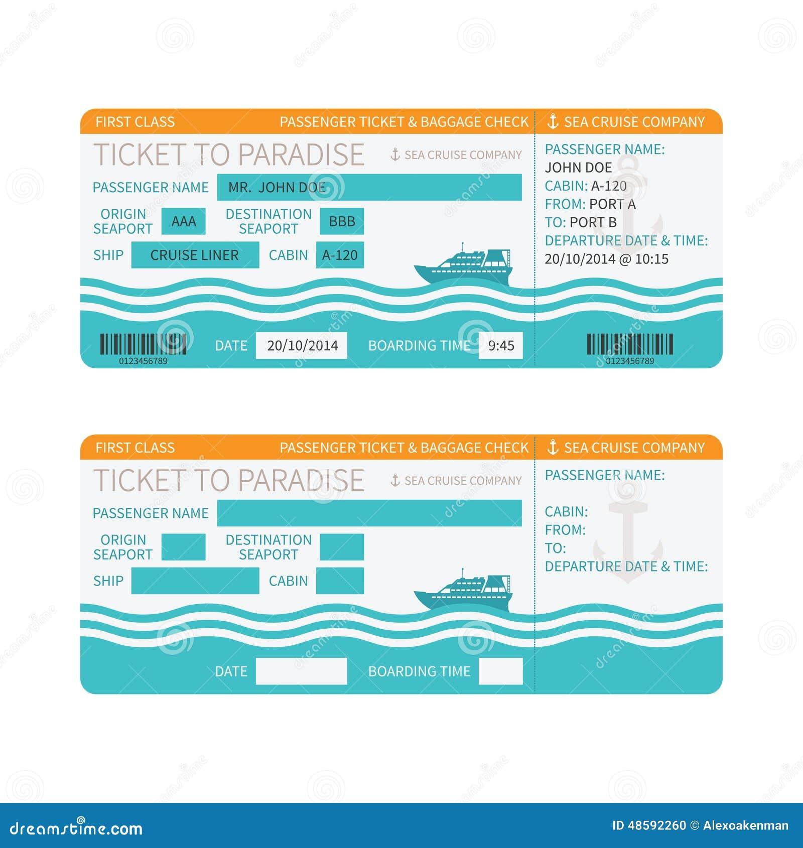 Boat Boarding Pass Invitation Ticket Design Template in ...